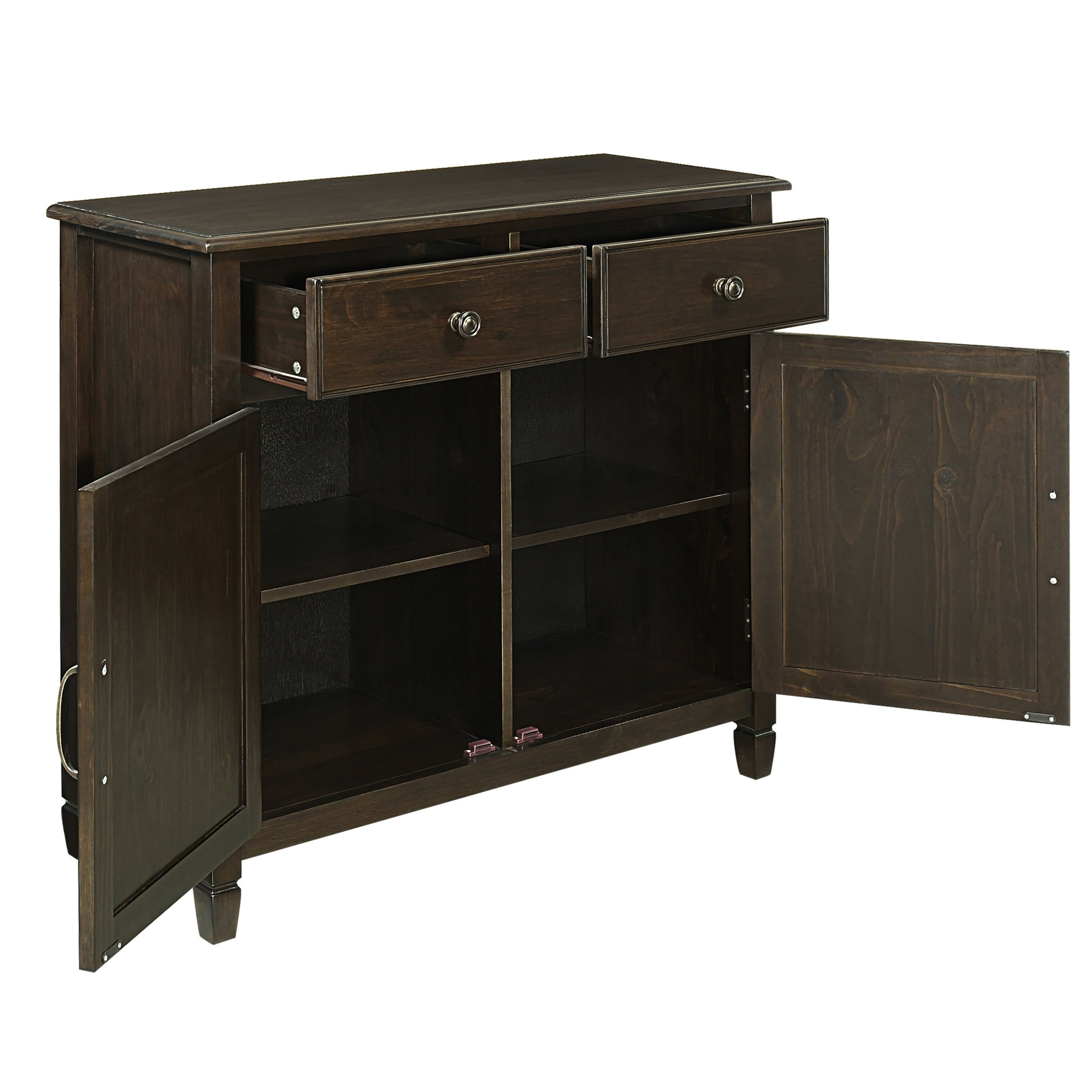 Entryway Cabinets: Simpli Home Connaught 2 Drawers And 2 Door Entryway