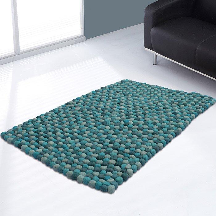 Ultimate Rug Co Pebble Plain Teal Rug