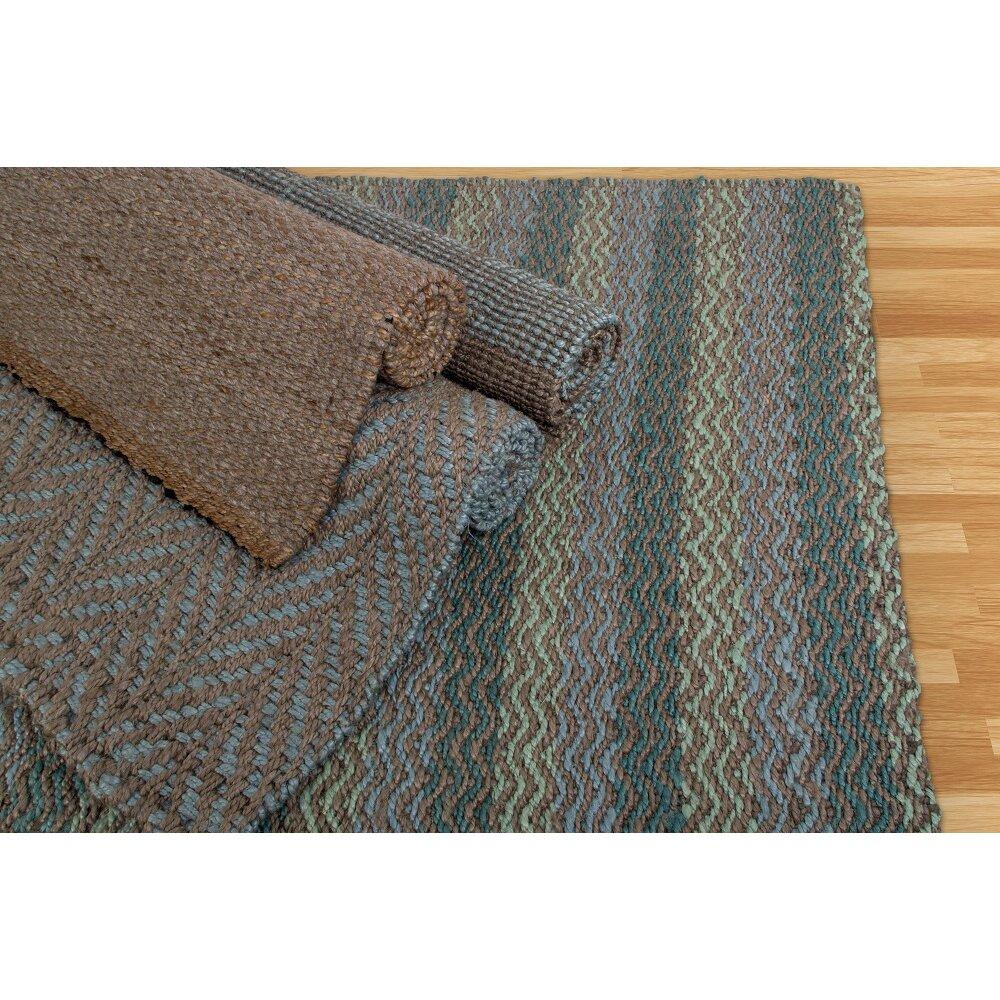 Fab Habitat Heartland Hand-Woven Brown Indoor/Outdoor Area