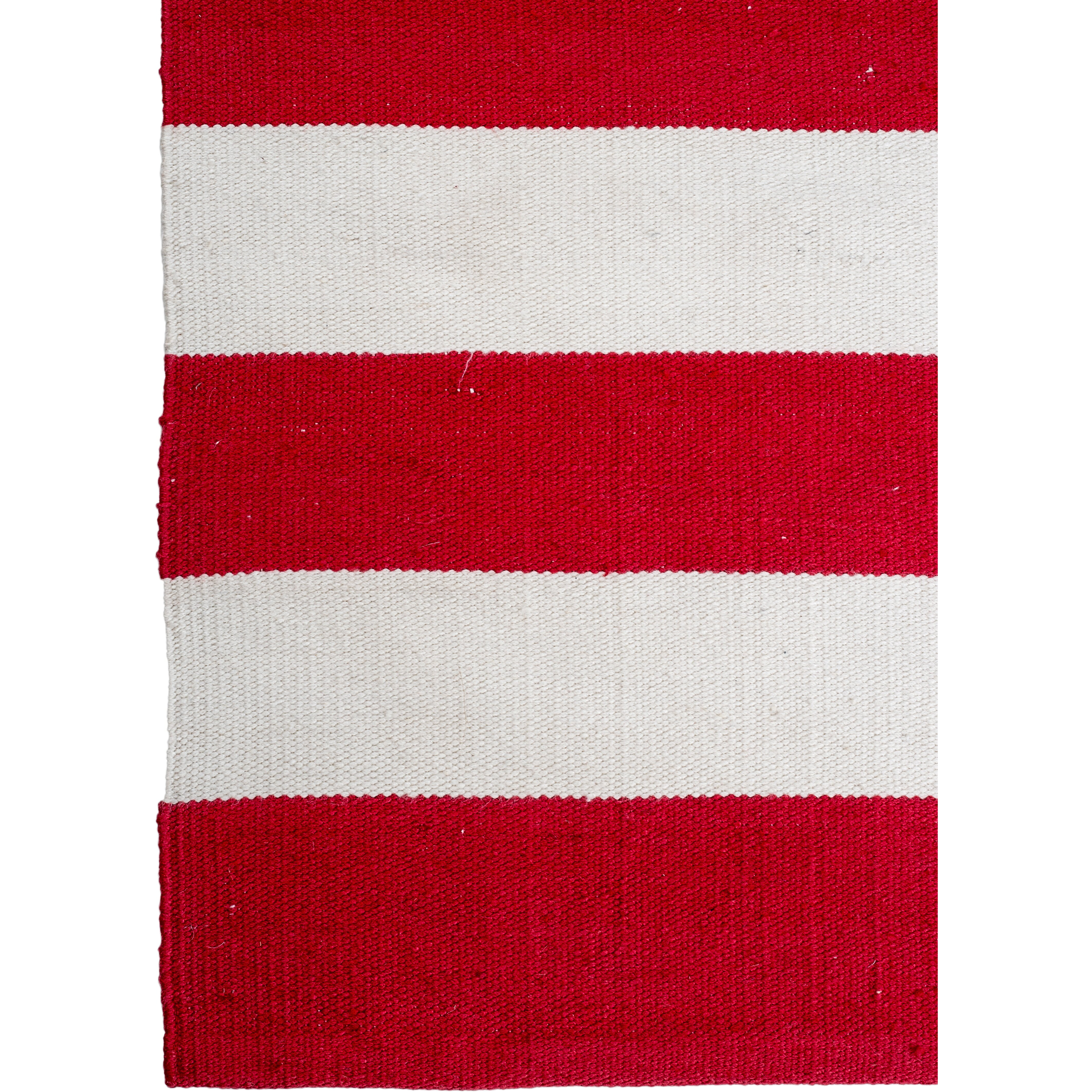 Fab habitat nantucket striped red white indoor outdoor for Red and white striped area rug