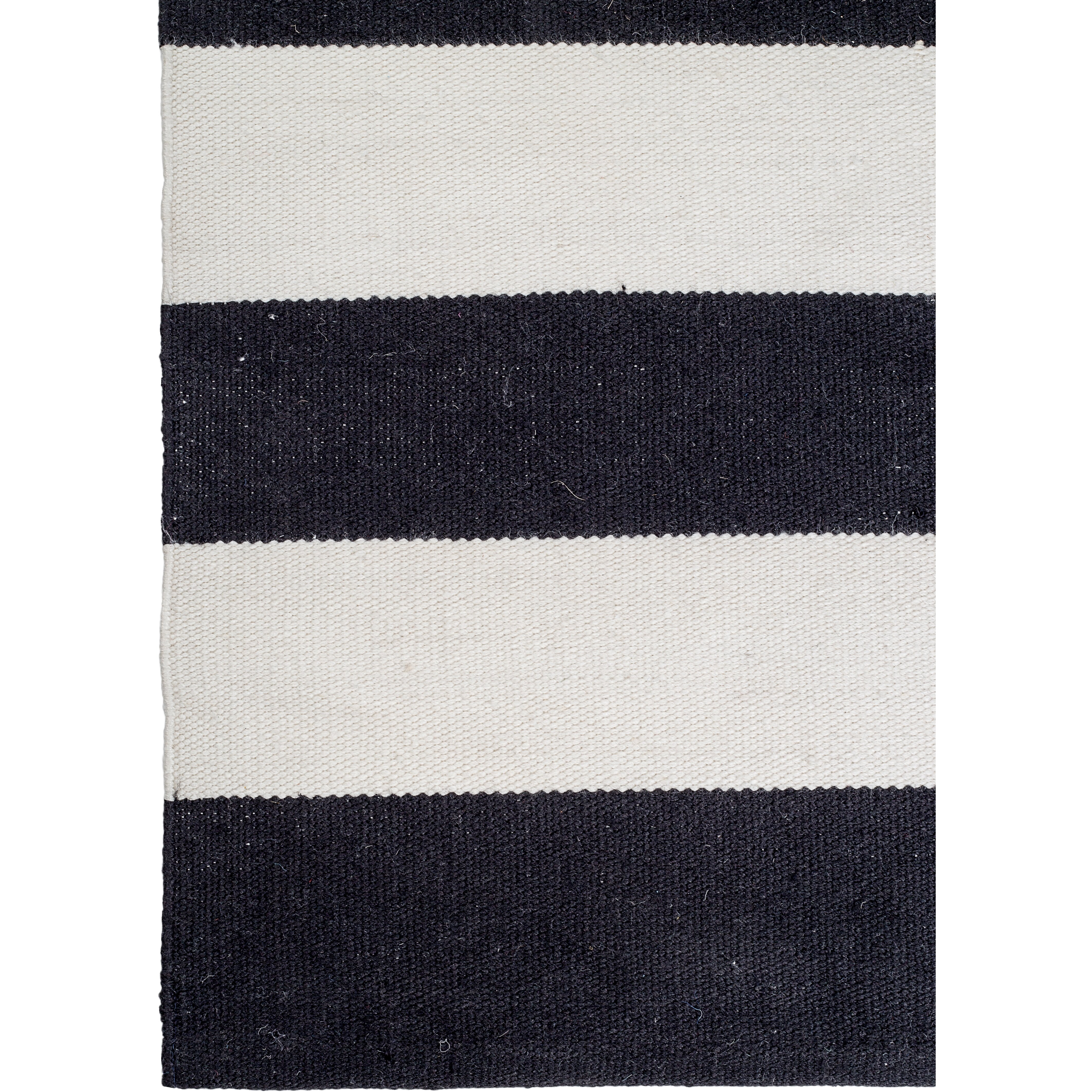 Fab habitat nantucket striped black white indoor outdoor for Black and white striped bath rug