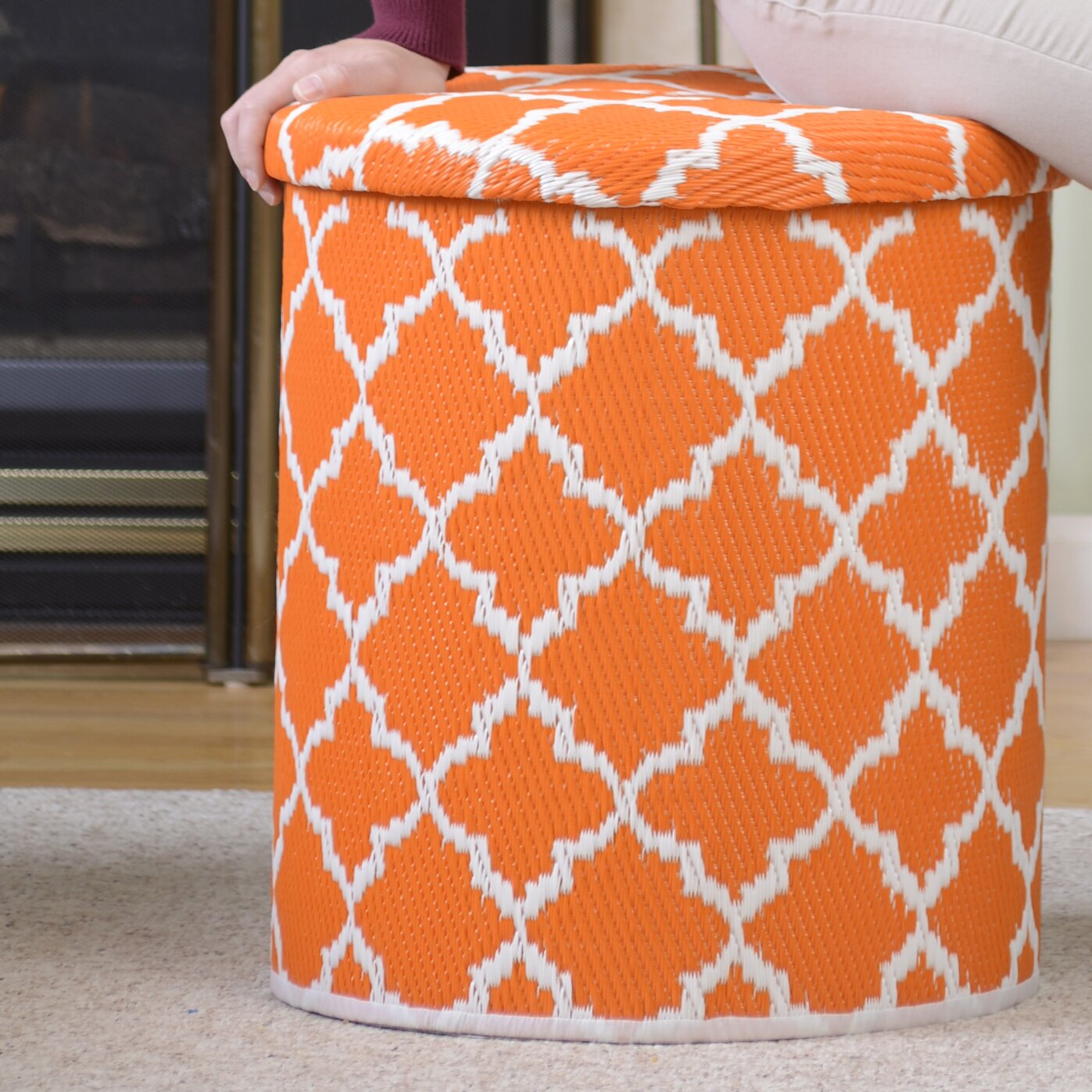 fab habitat world pouf wayfair. Black Bedroom Furniture Sets. Home Design Ideas