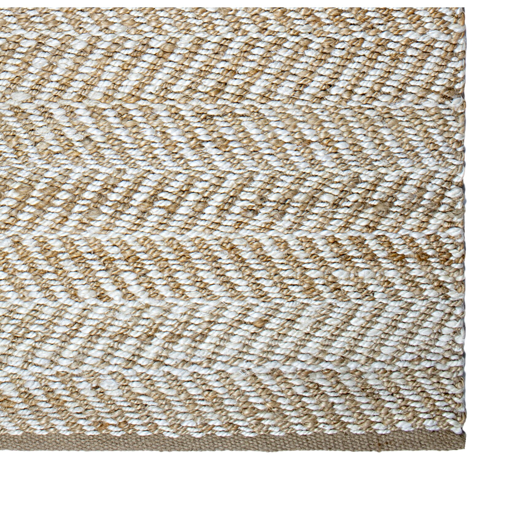 Fab habitat heartland canyon hand woven light brown white for Woven vinyl outdoor rugs