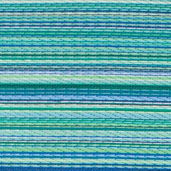 Fab Habitat World Turquoise/Moss Green Cancun Stripe