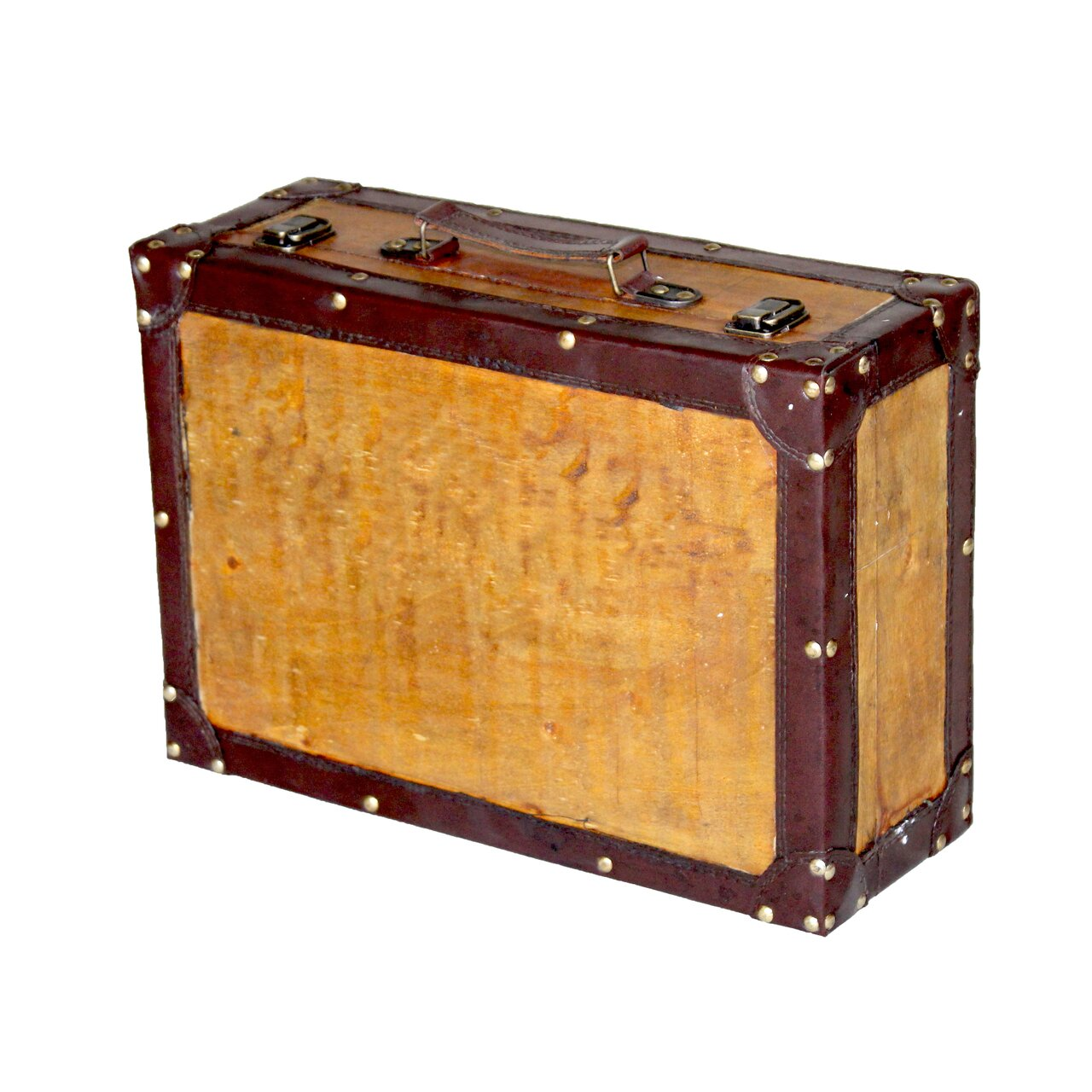Quickway Imports Old Vintage Suitcase Trunk & Reviews | Wayfair