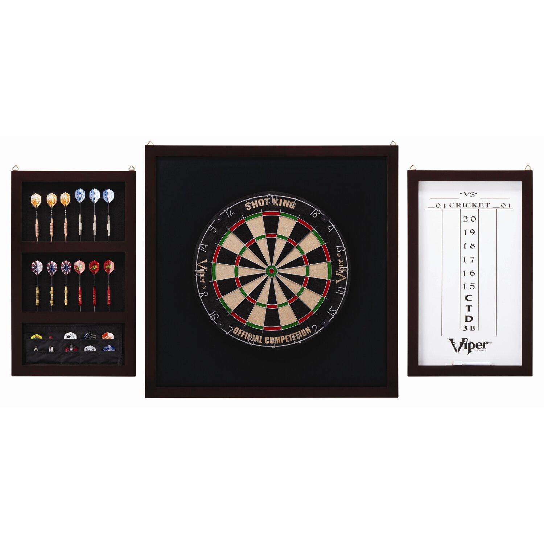 Dart Board Cabinet With Chalkboard Gld Products Viper Championship Backboard Set Reviews Wayfair