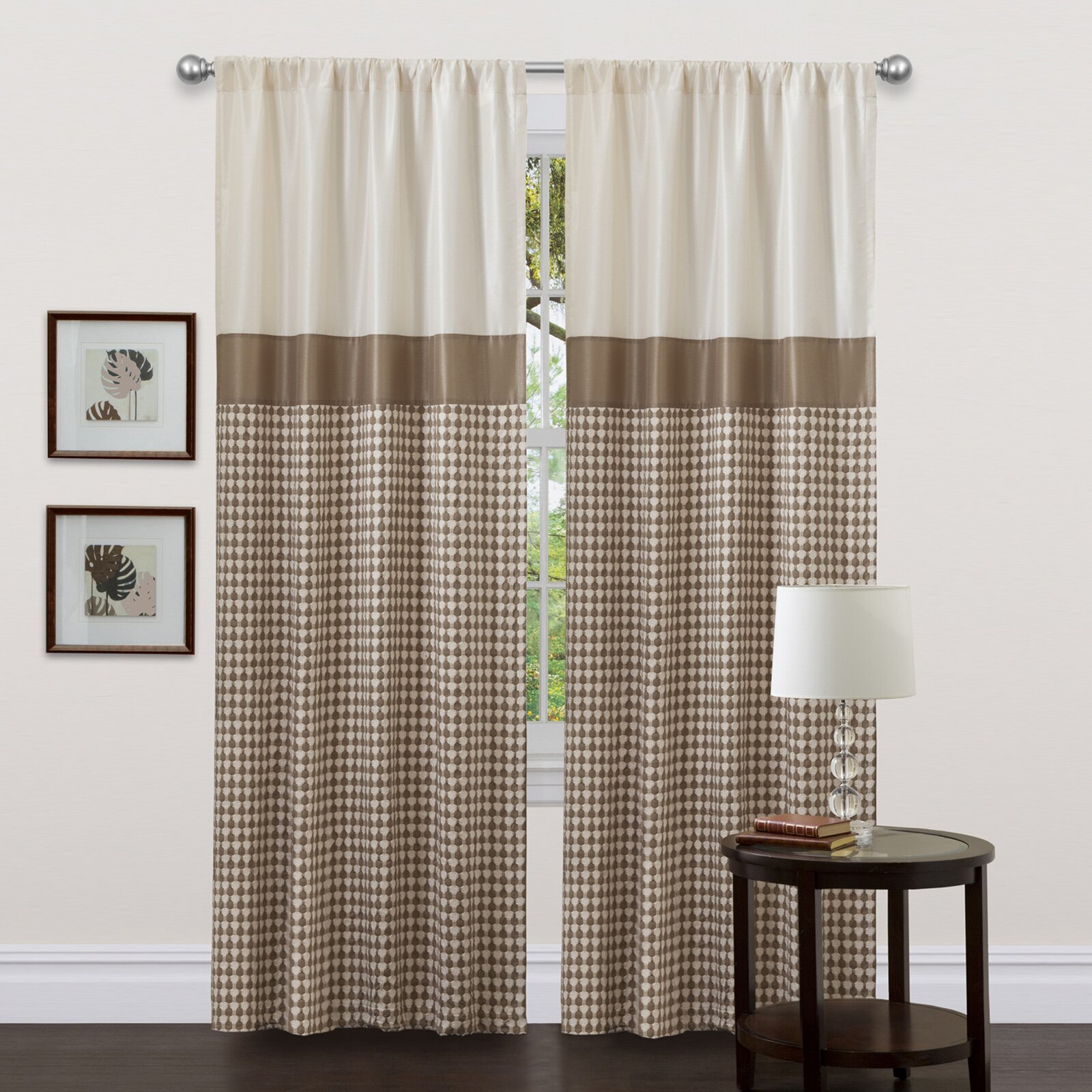 waldorf single curtain panel - Rust Color Curtains