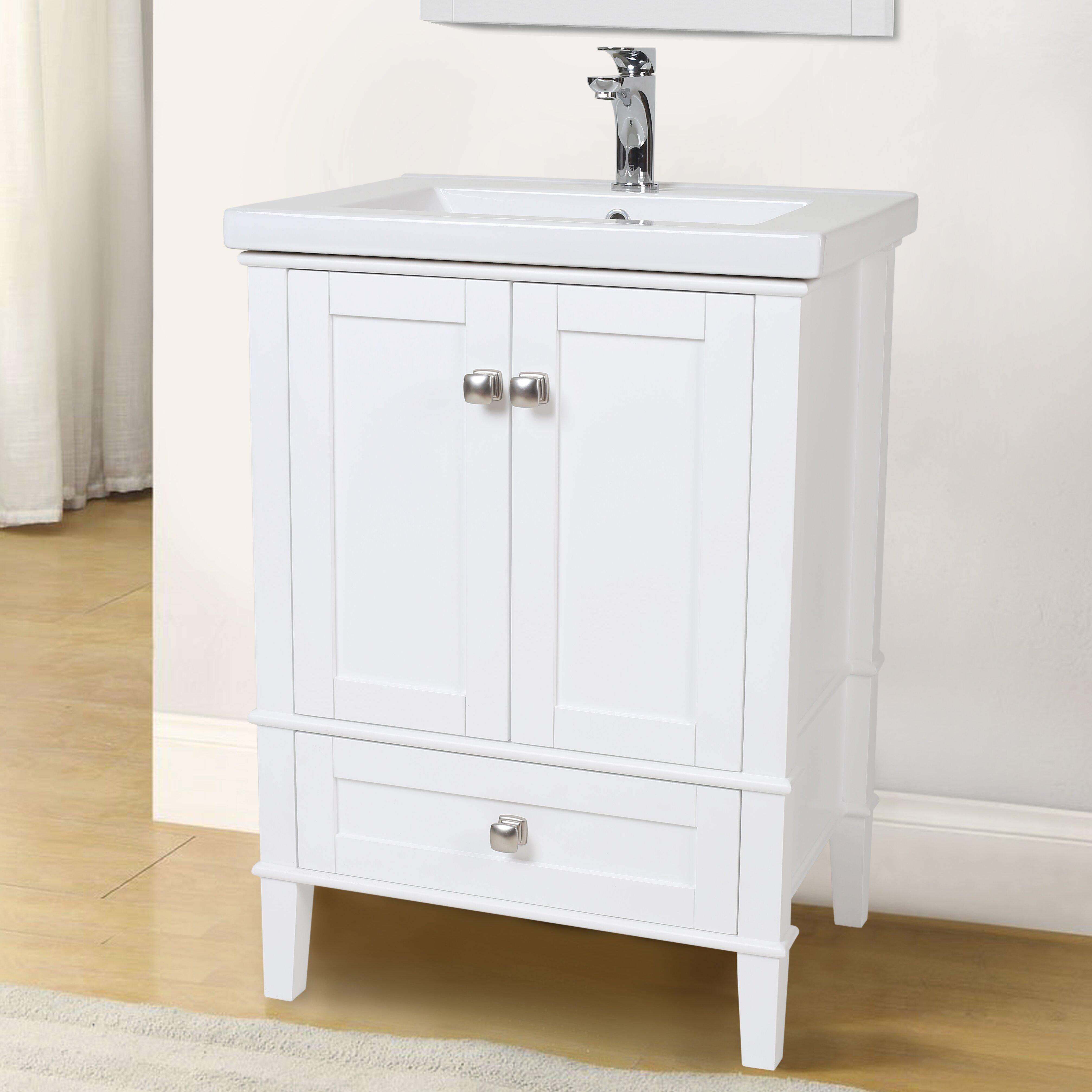 Bathroom Vanity Set Elegant Lighting Danville 24 Single Bathroom Vanity Set Reviews