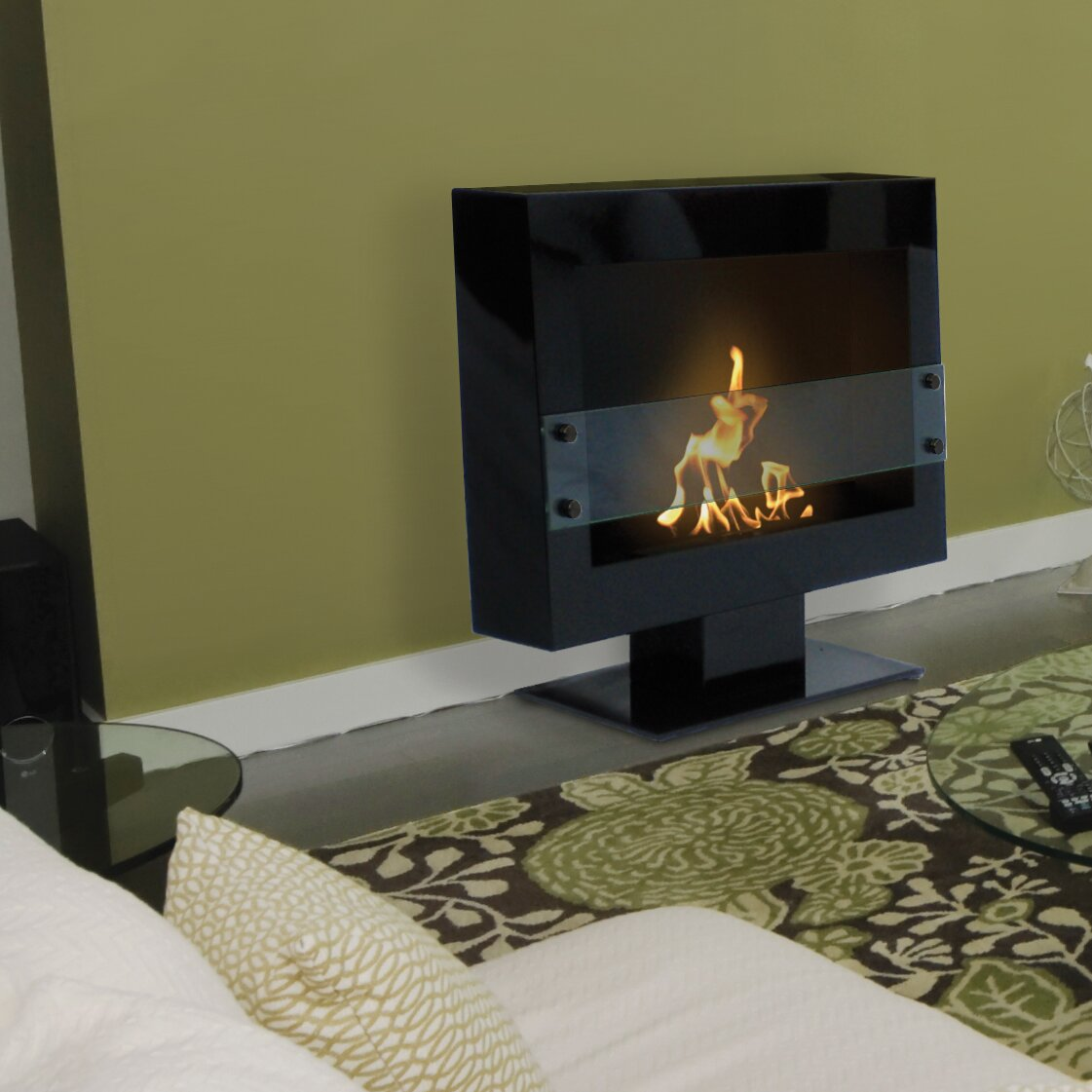 Anywhere Fireplace Tribeca Free Standing Bio-Ethanol Fireplace - Anywhere Fireplace Tribeca Free Standing Bio-Ethanol Fireplace