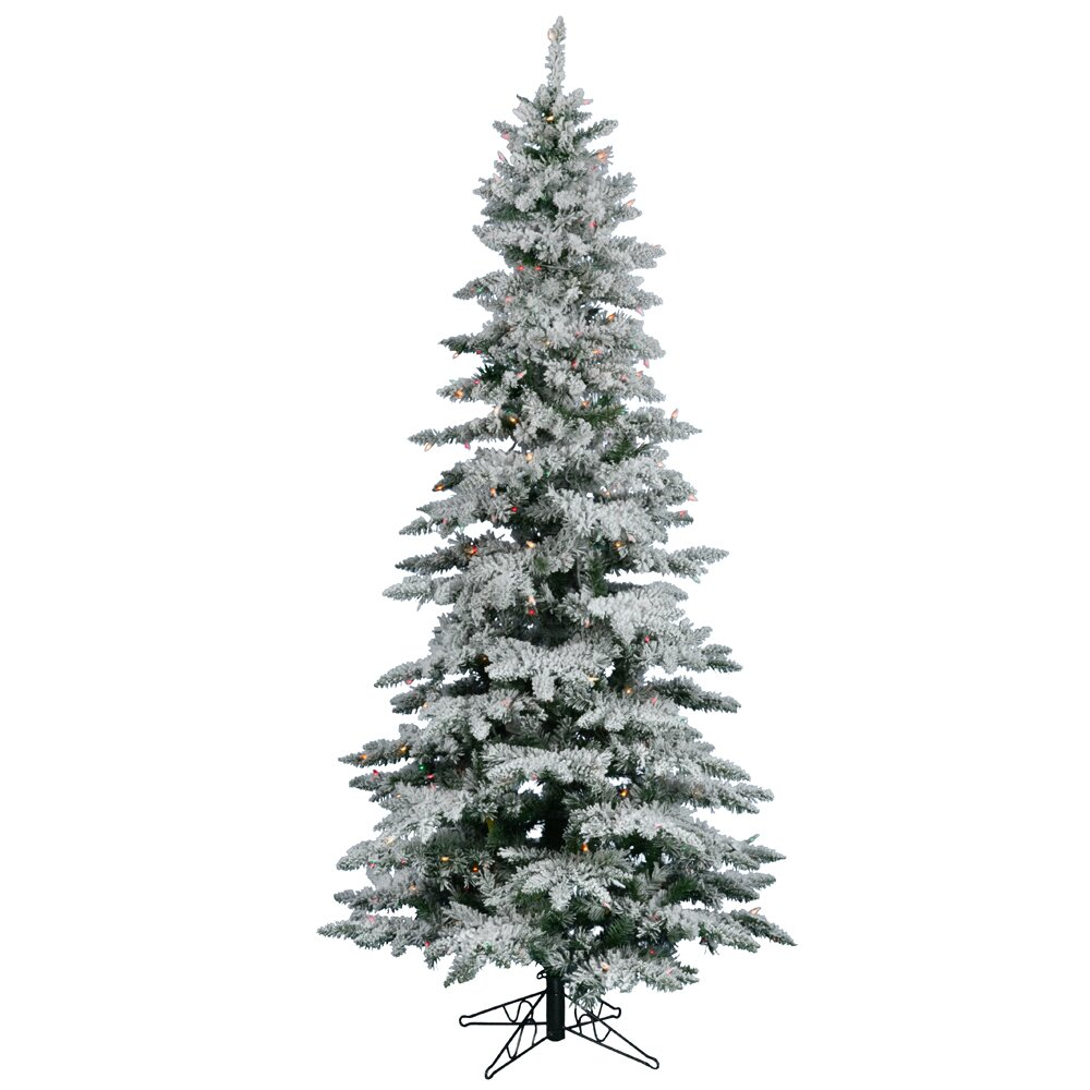Vickerman Flocked Utica Fir 7 5 39 White Artificial