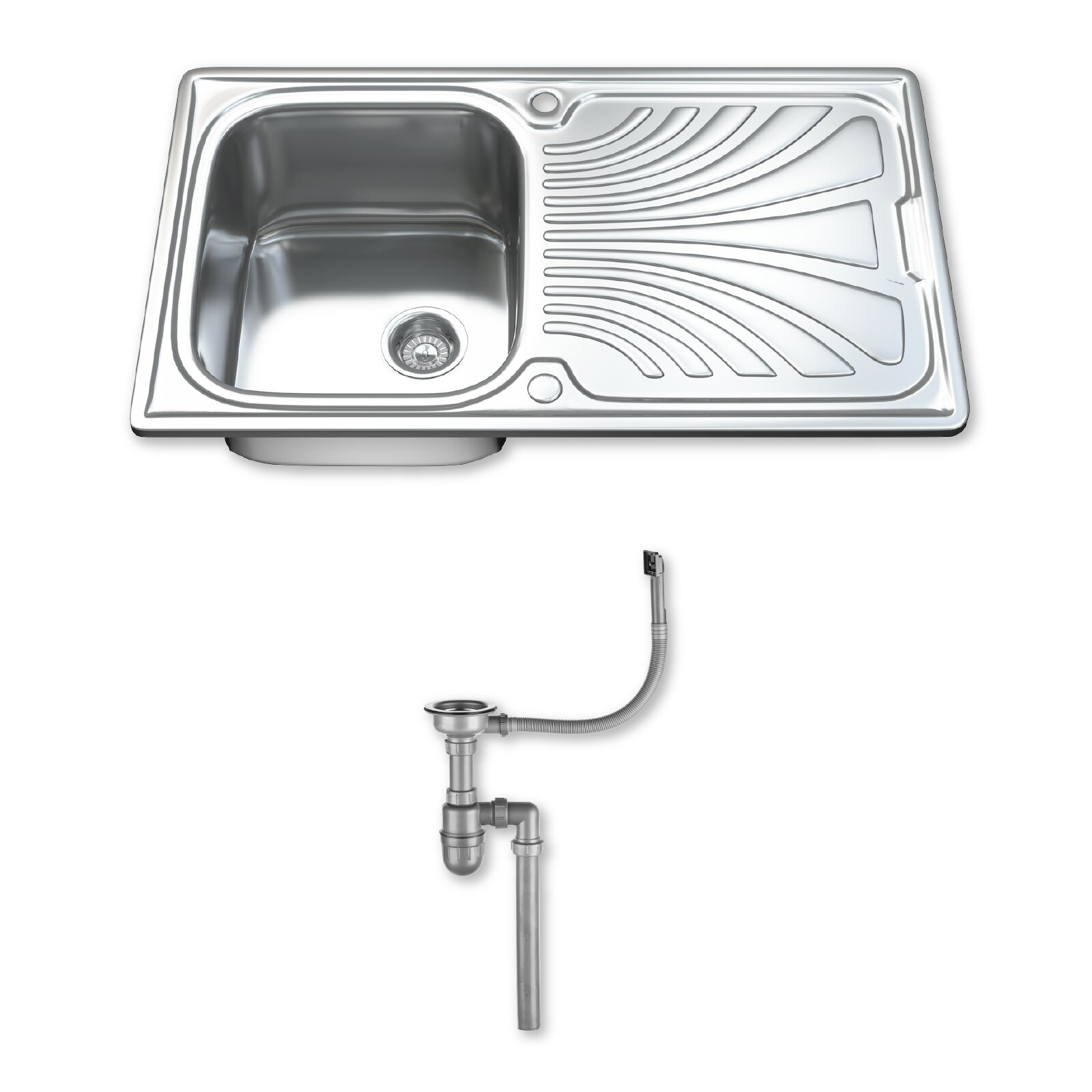 dihl 86cm x 50cm inset kitchen sink reviews wayfair uk
