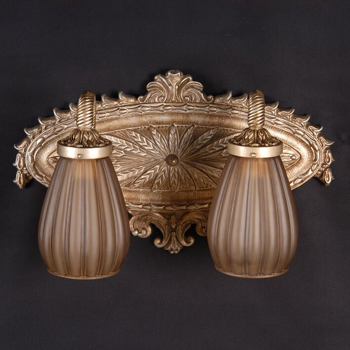 Martinez Y Orts Antiqued Globes 2 Light Vanity Light Wayfair UK