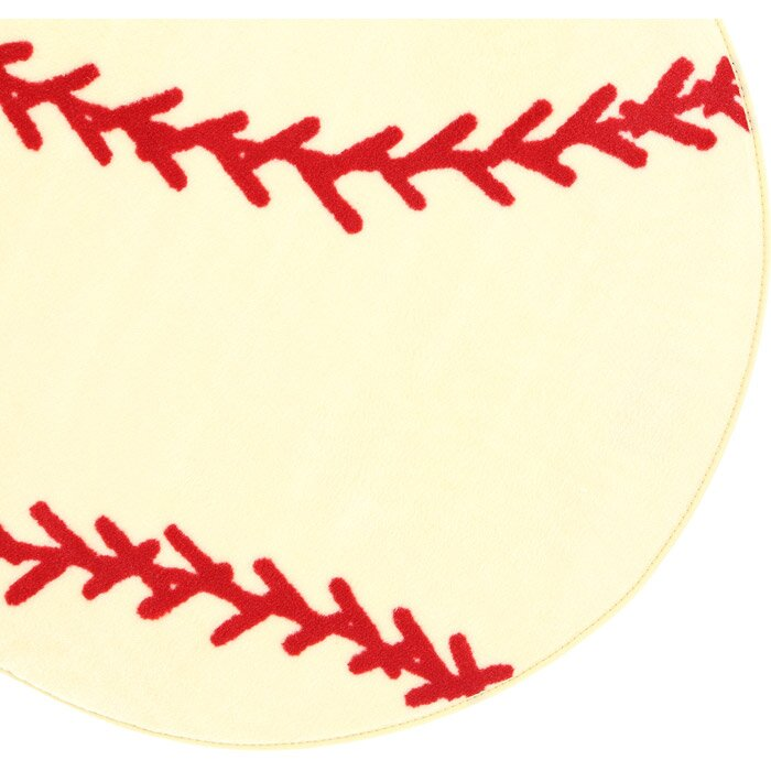 Rugs fun shape high pile baseball sports area rug amp reviews wayfair