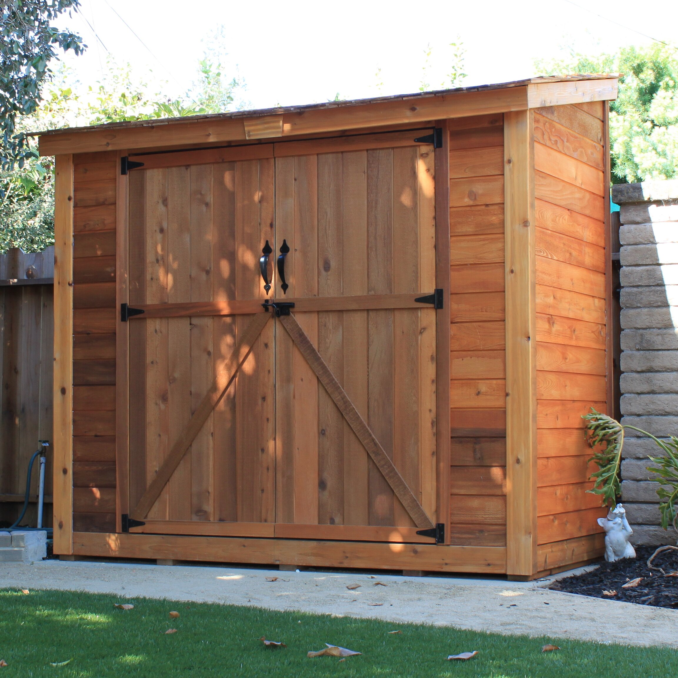 Garden Sheds X Spacesaver Ft W Intended Design Ideas