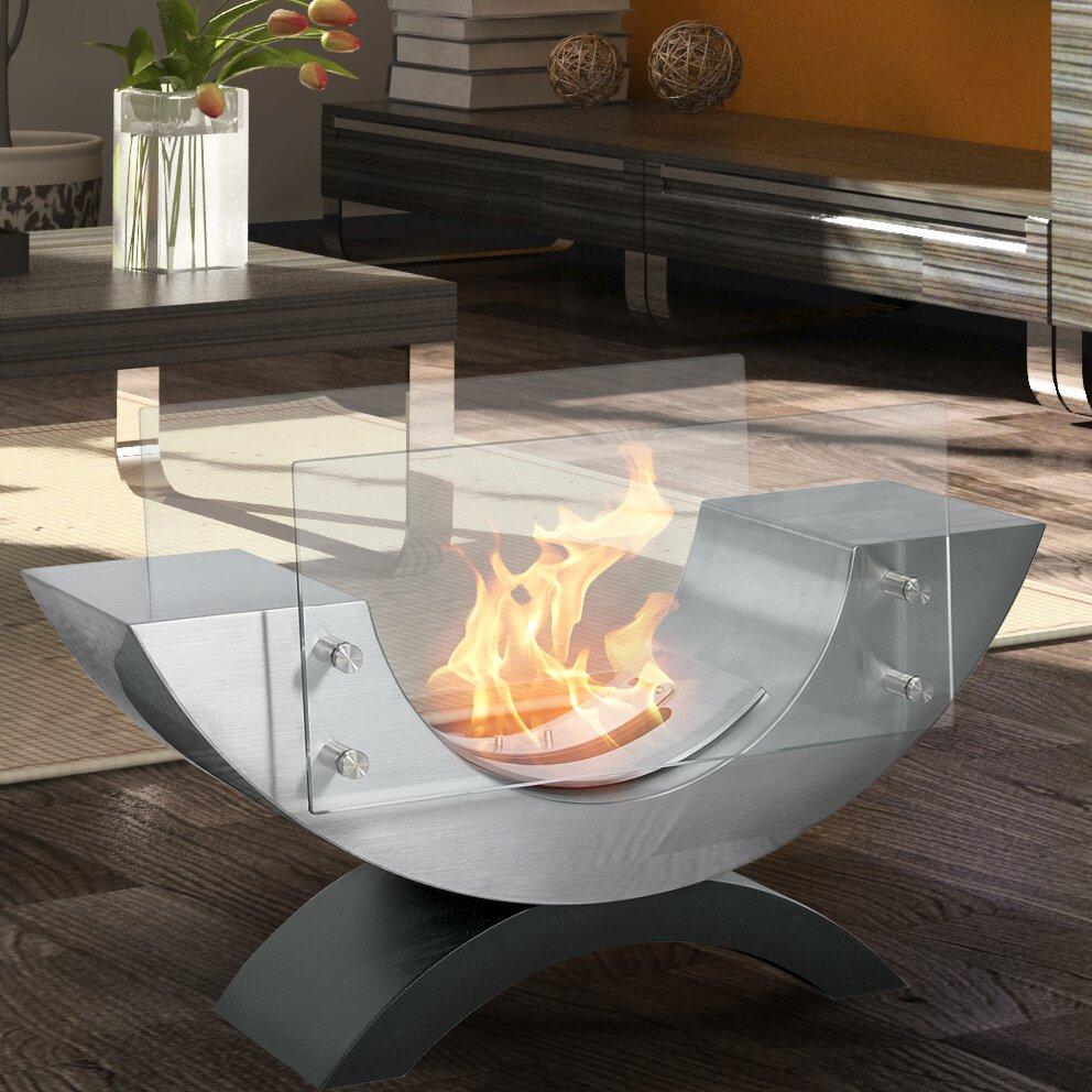 Aquafires Pureflame Half Ellipse Bio-Ethanol Tabletop Fireplace - Aquafires Pureflame Half Ellipse Bio-Ethanol Tabletop Fireplace