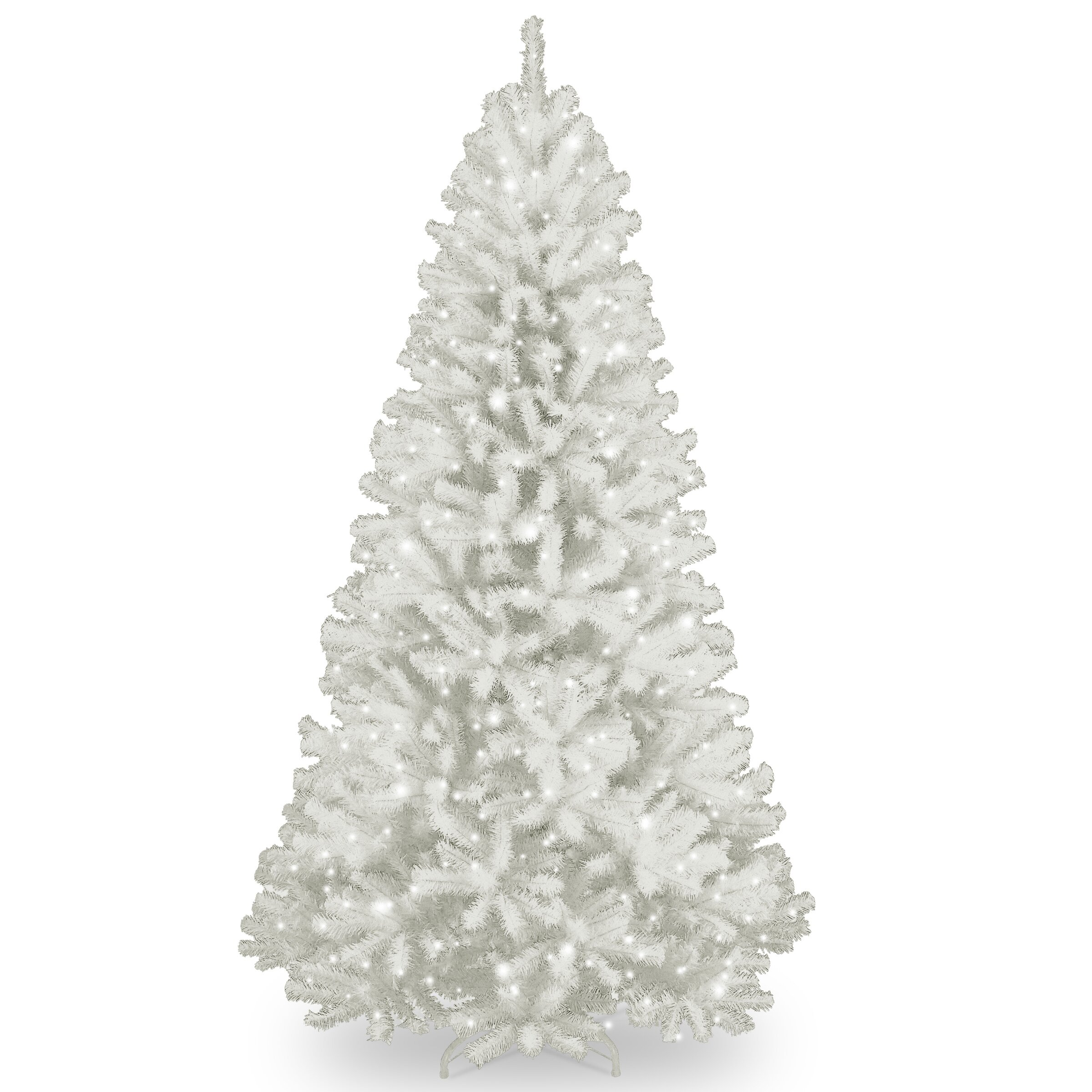 National Tree Co North Valley Spruce 7 39 White Artificial