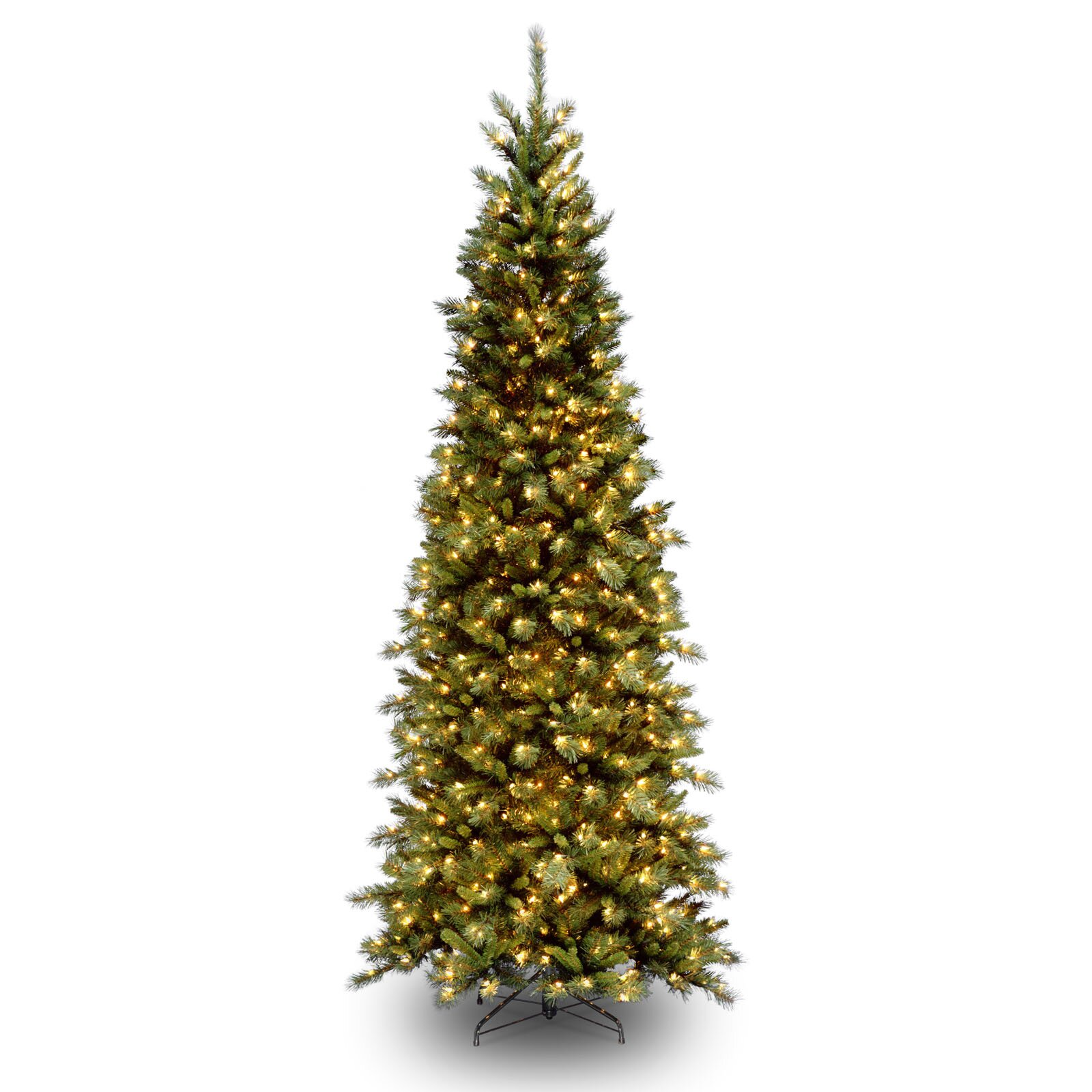 National Tree Co Tiffany Fir 9 39 Green Slim Artificial