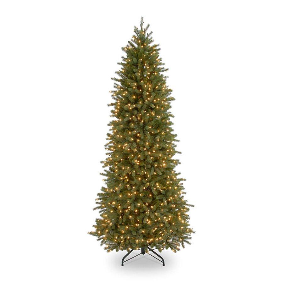 National Tree Co. Jersey Fraser Fir 7.5' Green Pencil Slim ...
