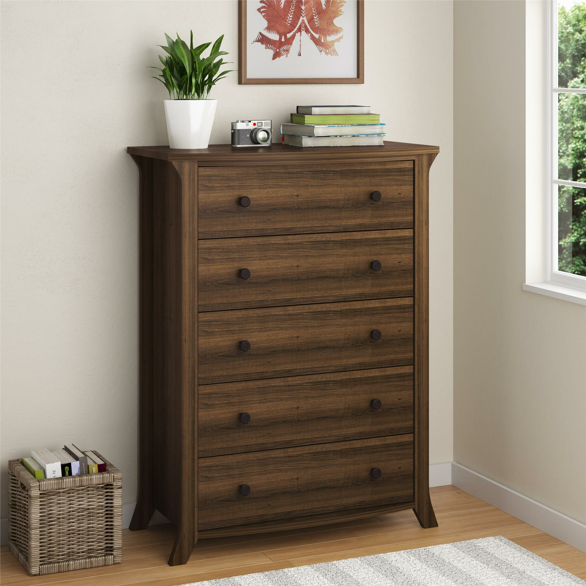 Oakridge Bedroom Furniture Altra Oakridge 5 Drawer Chest Reviews Wayfair
