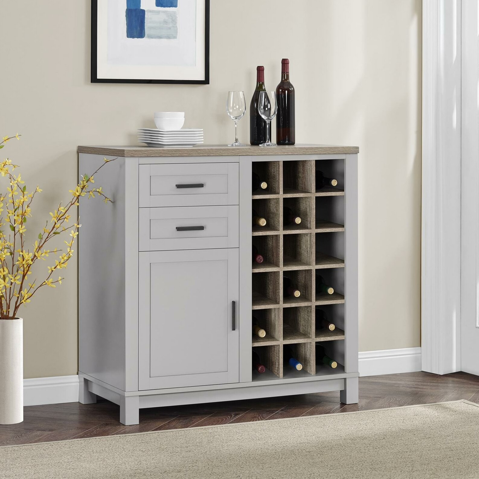 Wine Bar Storage Cabinet Mercury Row Callowhill Bar Cabinet With Wine Storage Reviews