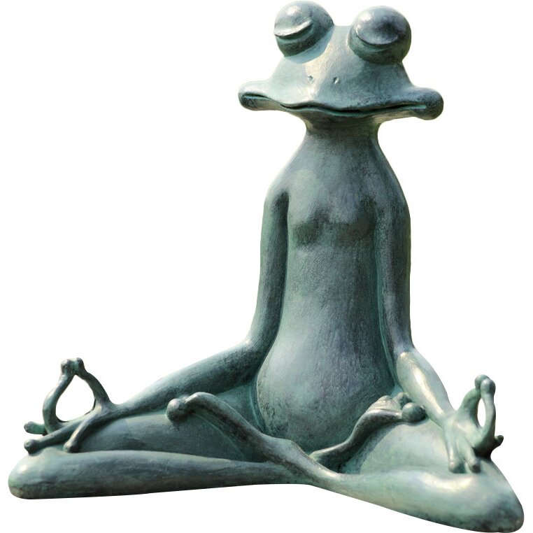 SPI Home Contented Yoga Frog Garden Statue Reviews Wayfair