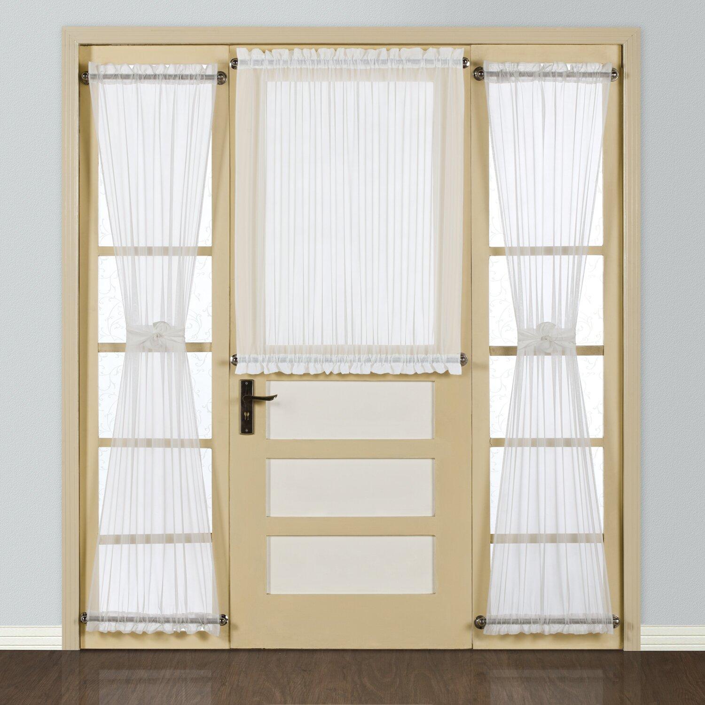 United Curtain Co Batiste Half Rod Pocket Door Single