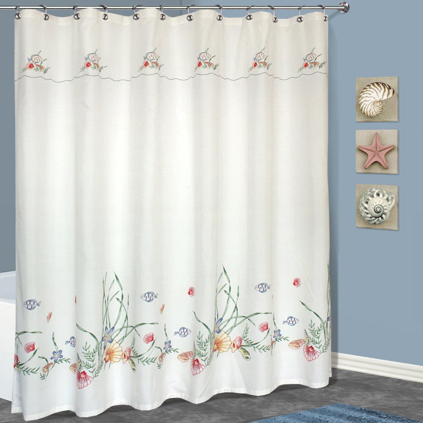 ivory u0026 cream ruffled shower curtains youu0027ll love wayfair
