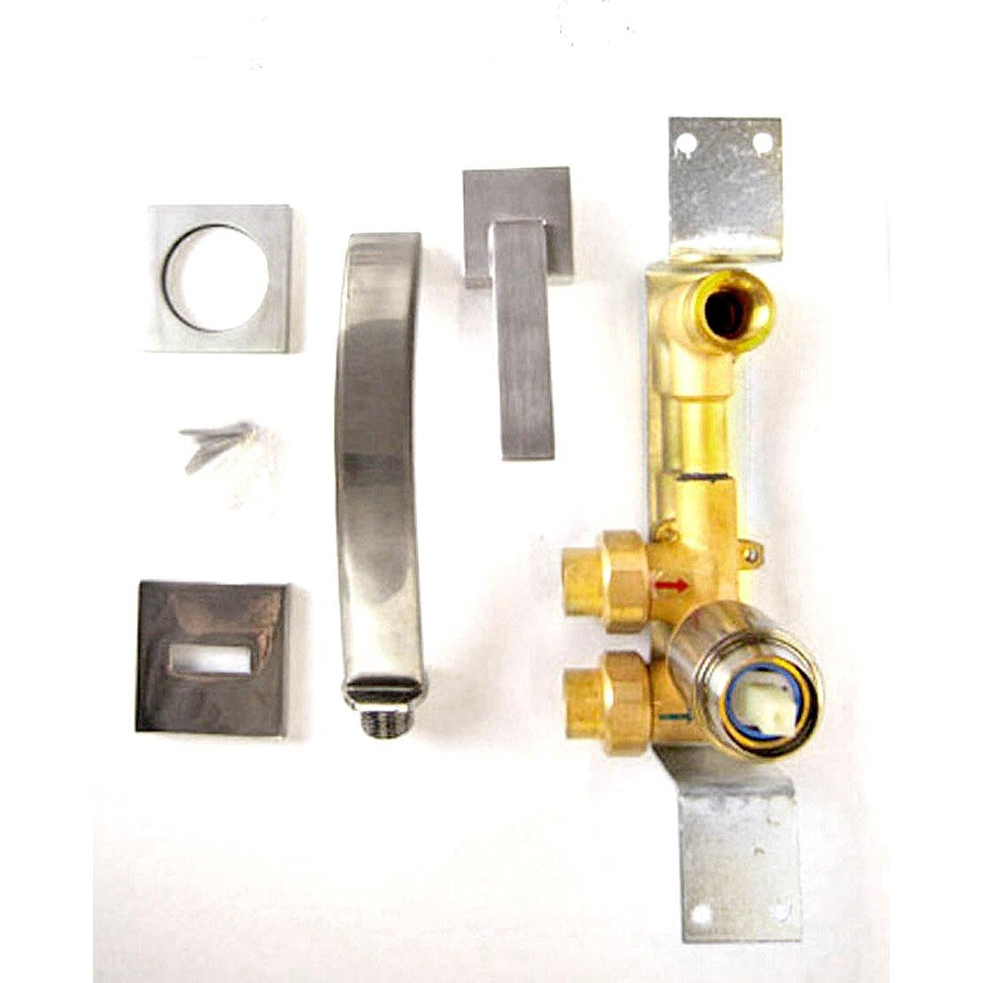 Brass Bathroom Faucet Alfi Brand Single Handle Wall Mounted Bathroom Faucet Reviews