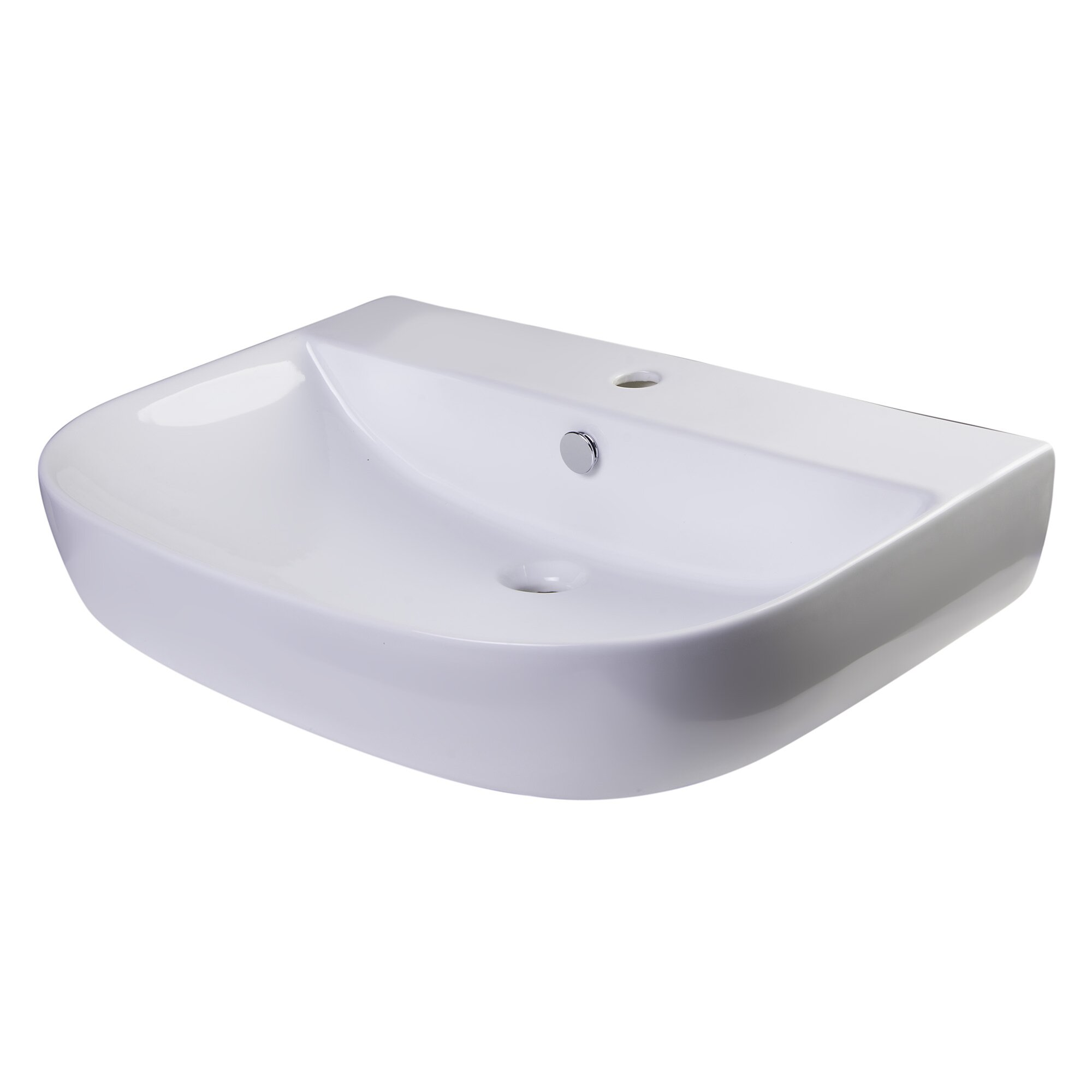 Bathroom Sink Brands : ... Bowl Porcelain Wall Mounted Bath Sink with Overflow by Alfi Brand