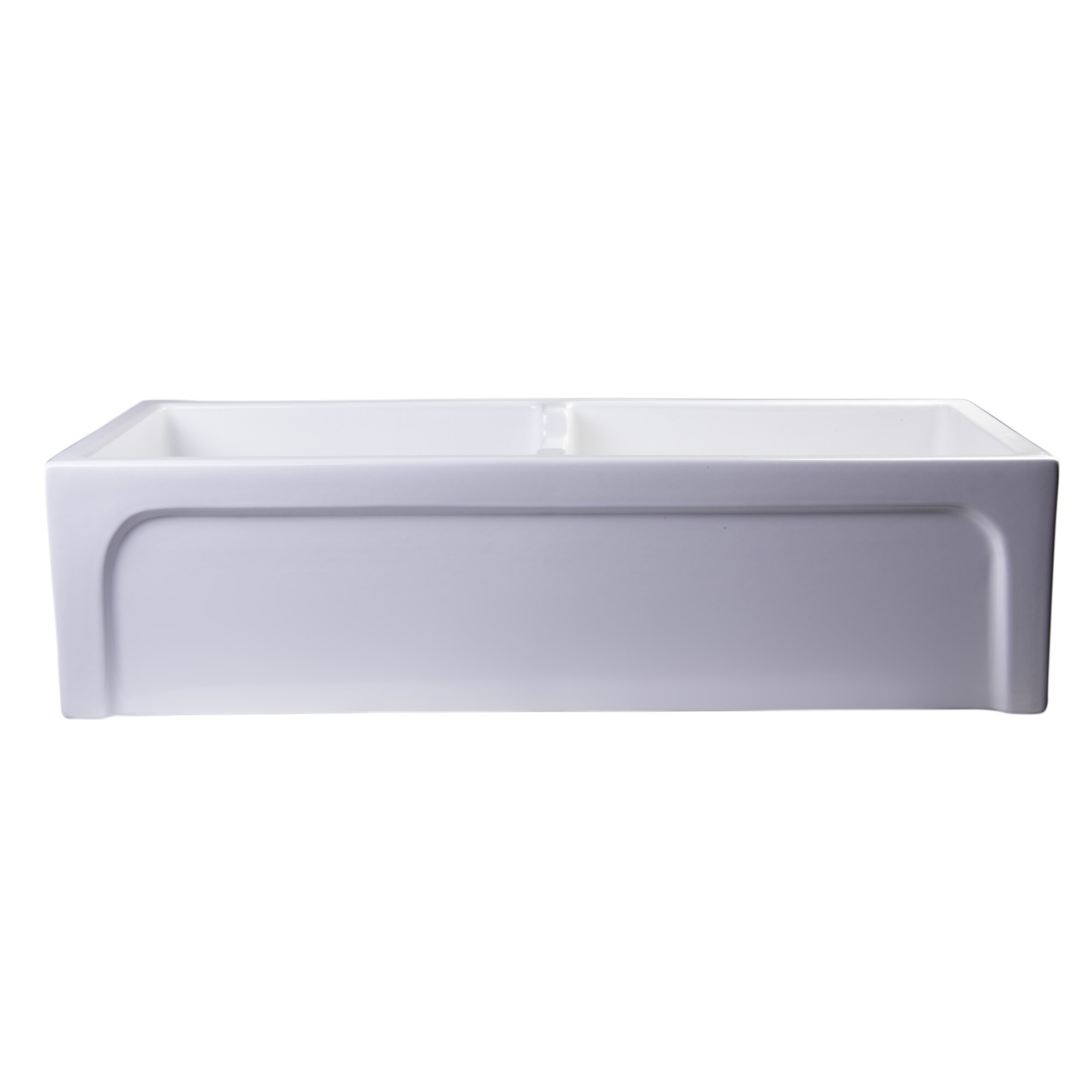 Farmhouse Sink Brands : ... Thick Wall Fireclay Double Bowl Farmhouse Kitchen Sink by Alfi Brand