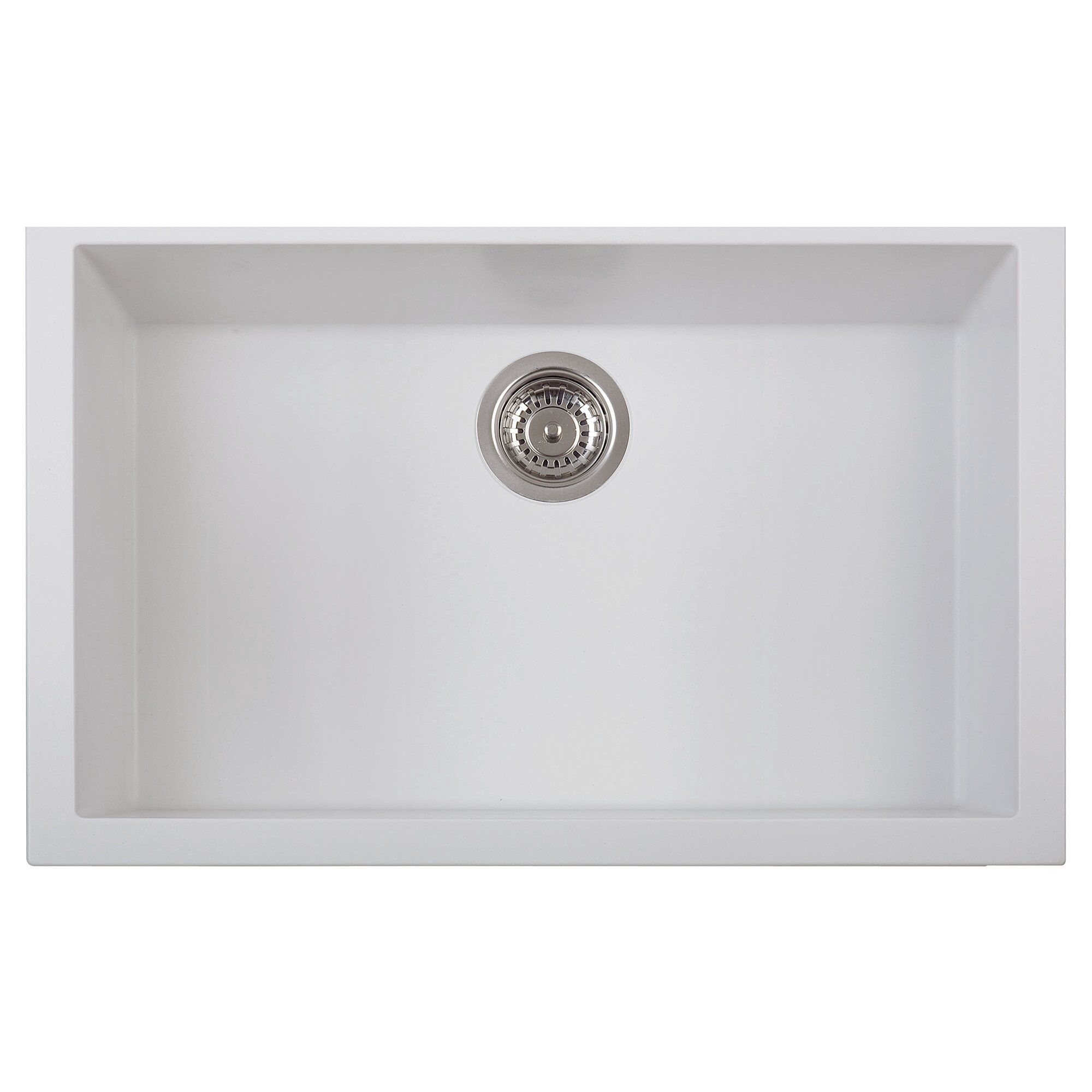 White Kitchen Sink Undermount Alfi Brand Lewis 30 X 1775 Undermount Single Bowl Kitchen Sink