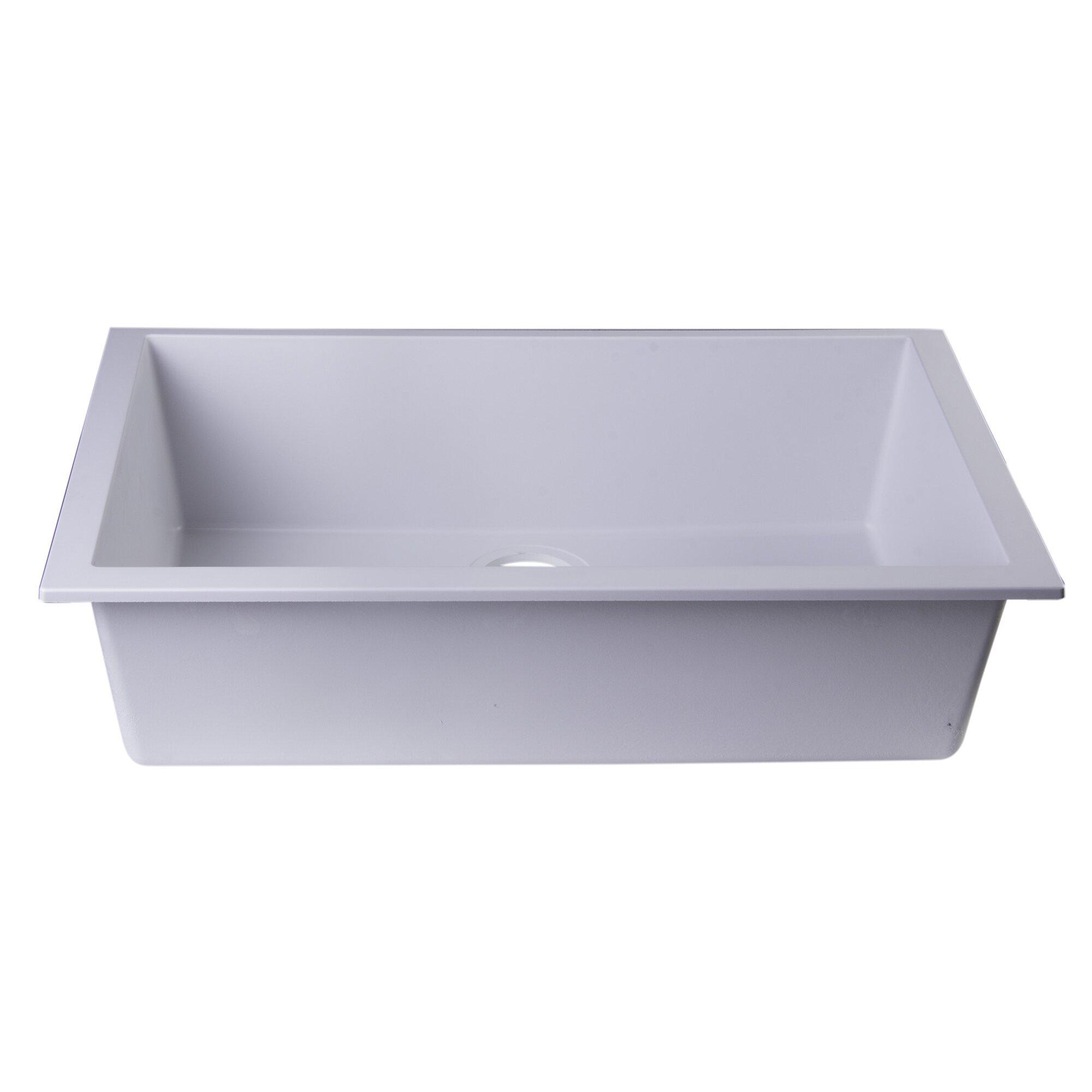 Granite Composite Undermount Kitchen Sinks Alfi Brand Lewis 30 X 1775 Undermount Single Bowl Kitchen Sink