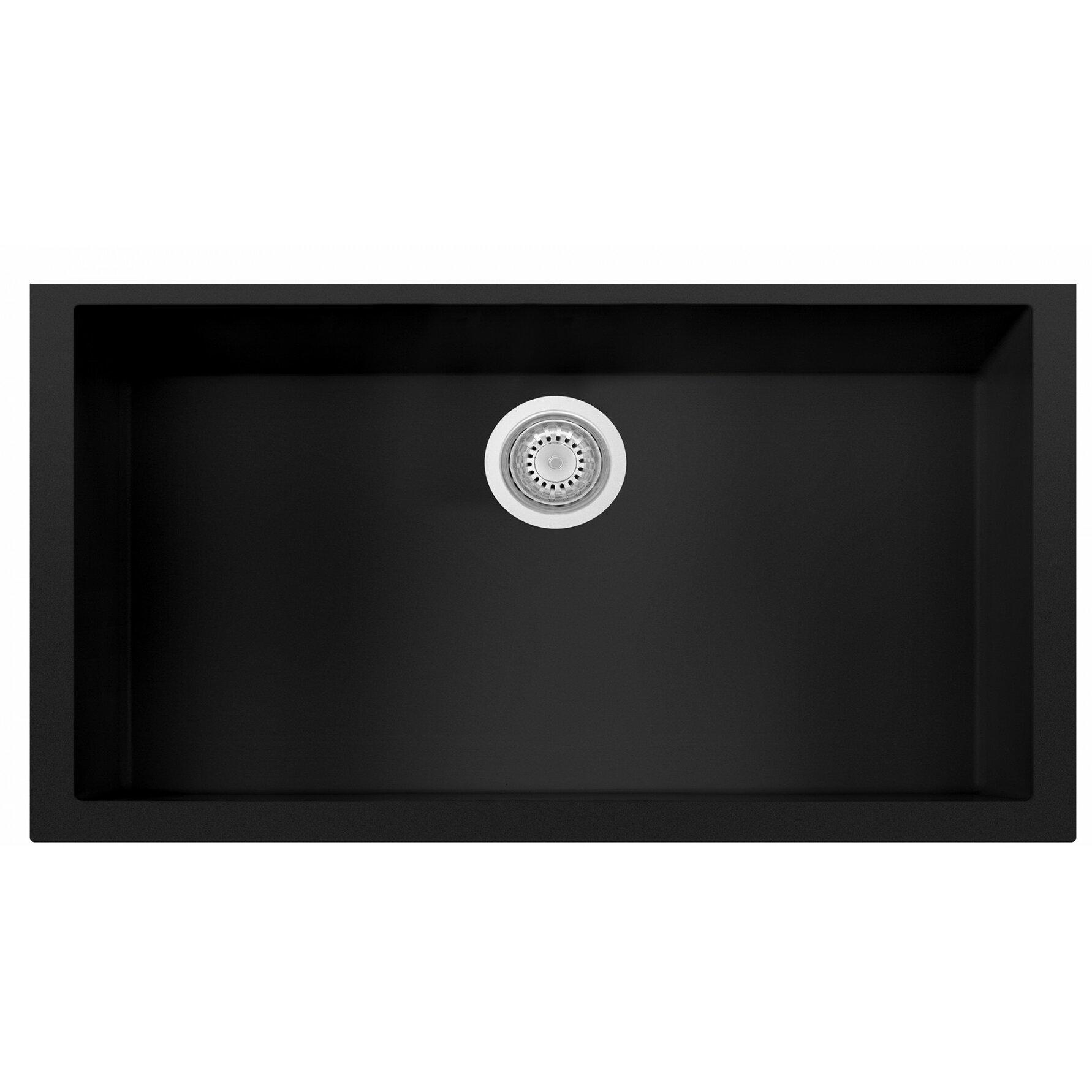 Granite Composite Undermount Kitchen Sinks Alfi Brand Granite Composite 33 X 1938 Single Bowl Undermount