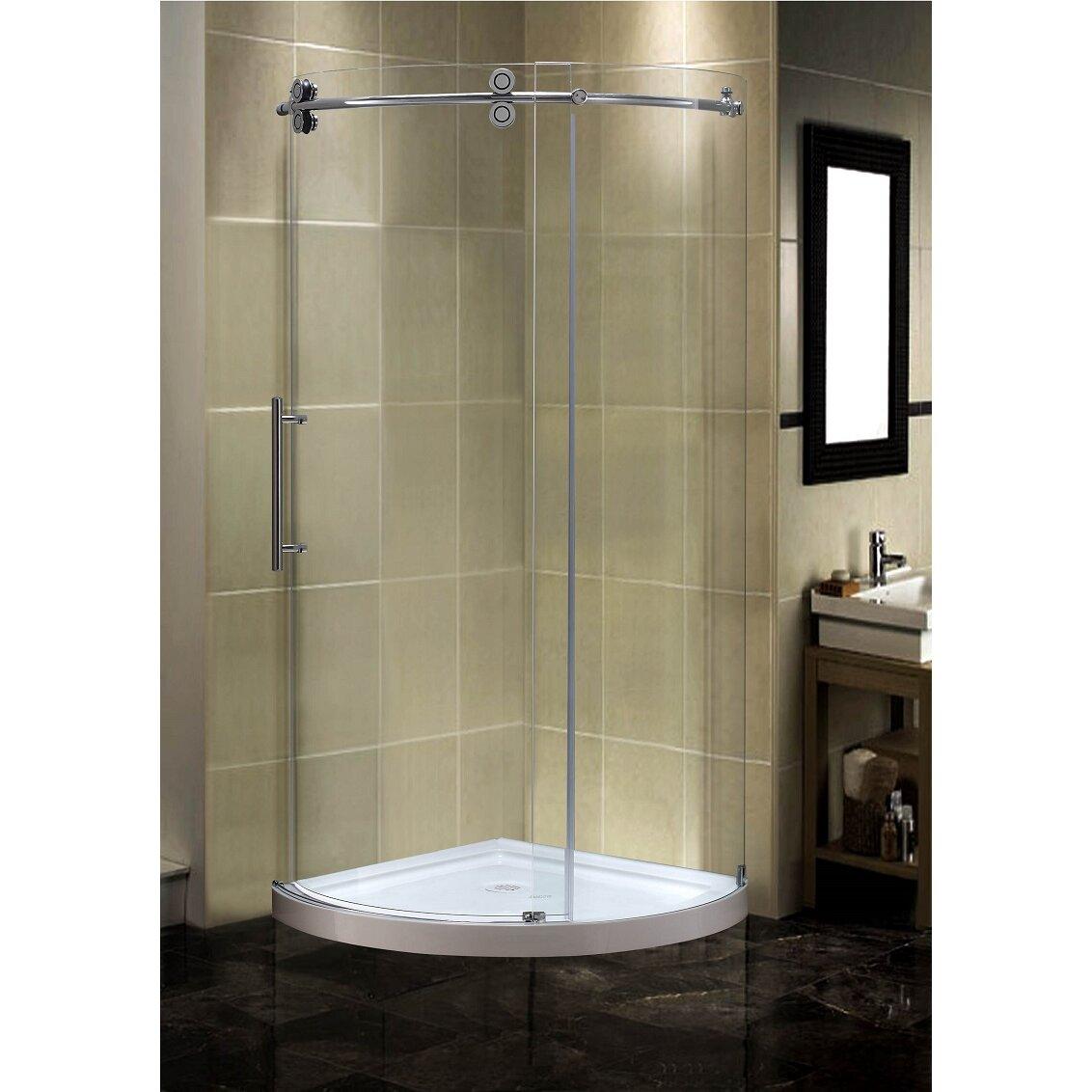 Aston Orbitus  X  X  Completely Frameless Round Shower - 36 x 36 corner shower stall