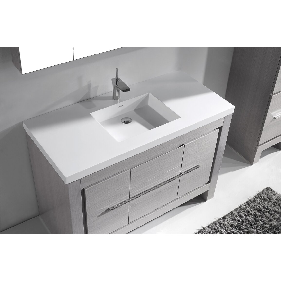 60 Bathroom Cabinet Madeli Vicenza 60 Single Bathroom Vanity Set Wayfair
