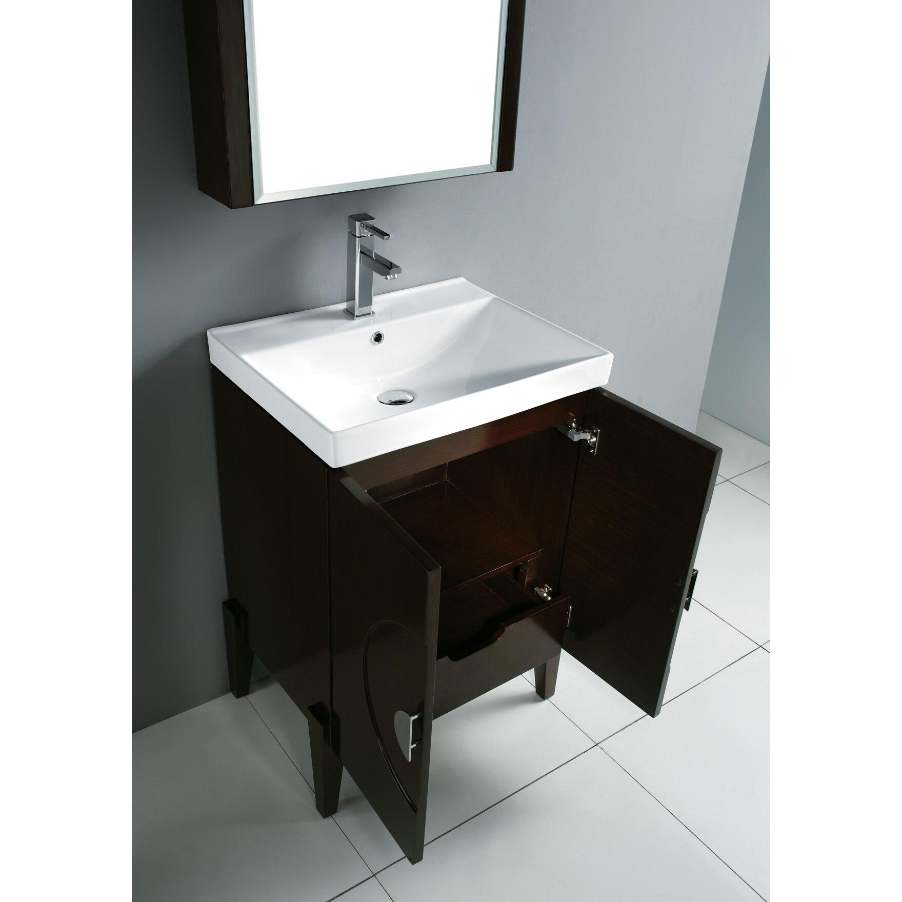 Bathroom Vanity Base Madeli Genova 24 Wall Mount Bathroom Vanity Base Reviews Wayfair