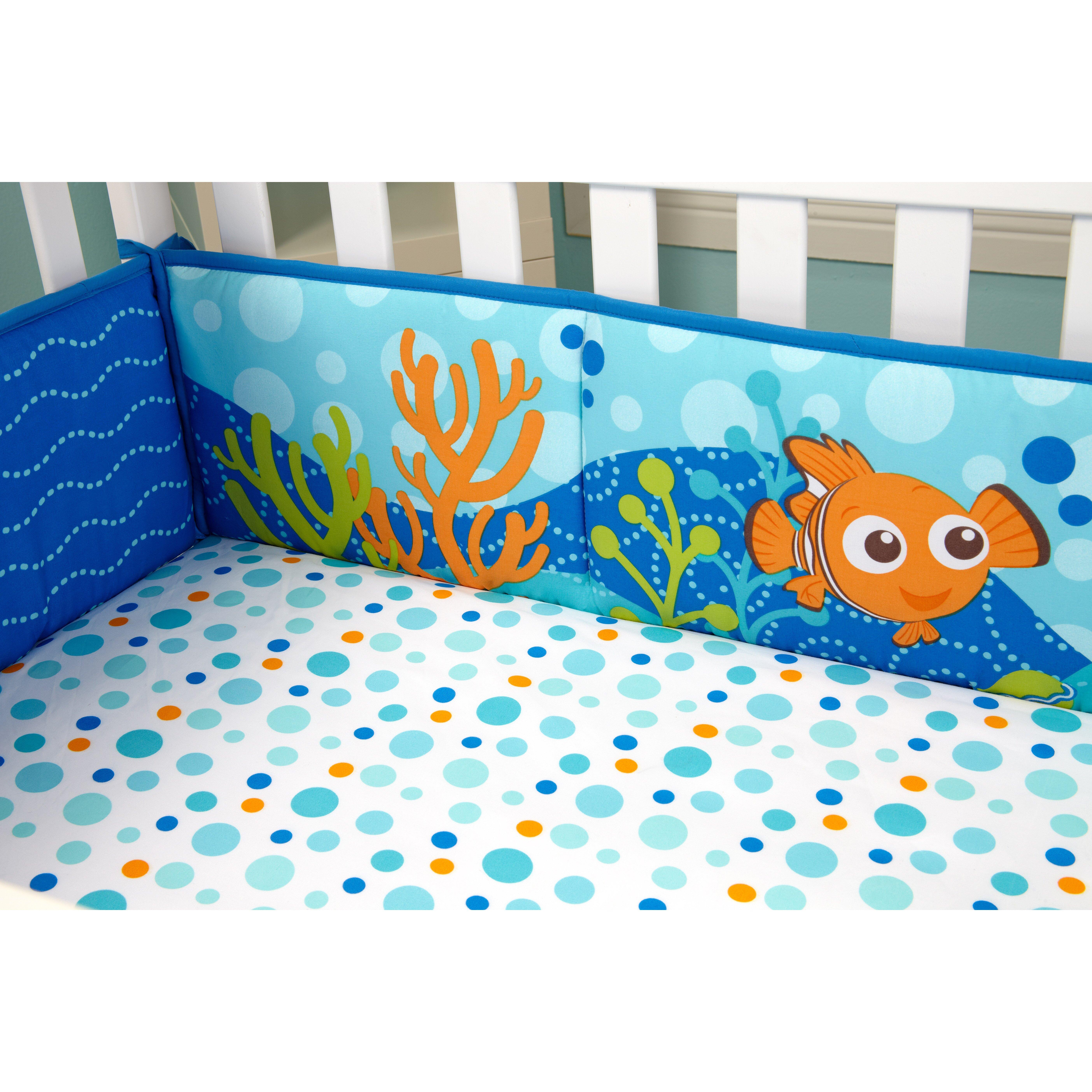 Bumper for crib for sale - Disney Finding Nemo Traditional Padded Crib Bumper