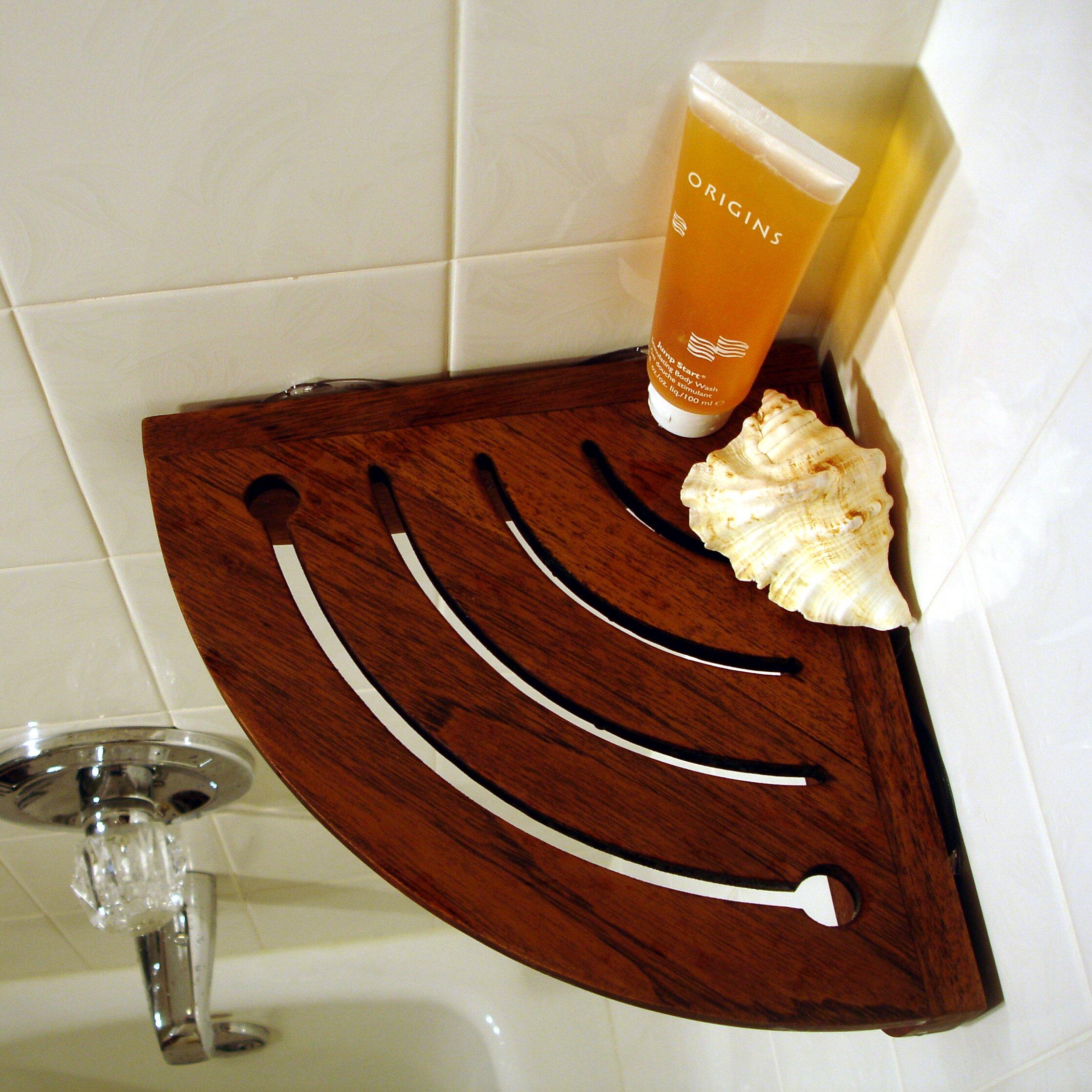 Aqua Teak Spa Teak Shower Caddy Amp Reviews Wayfair