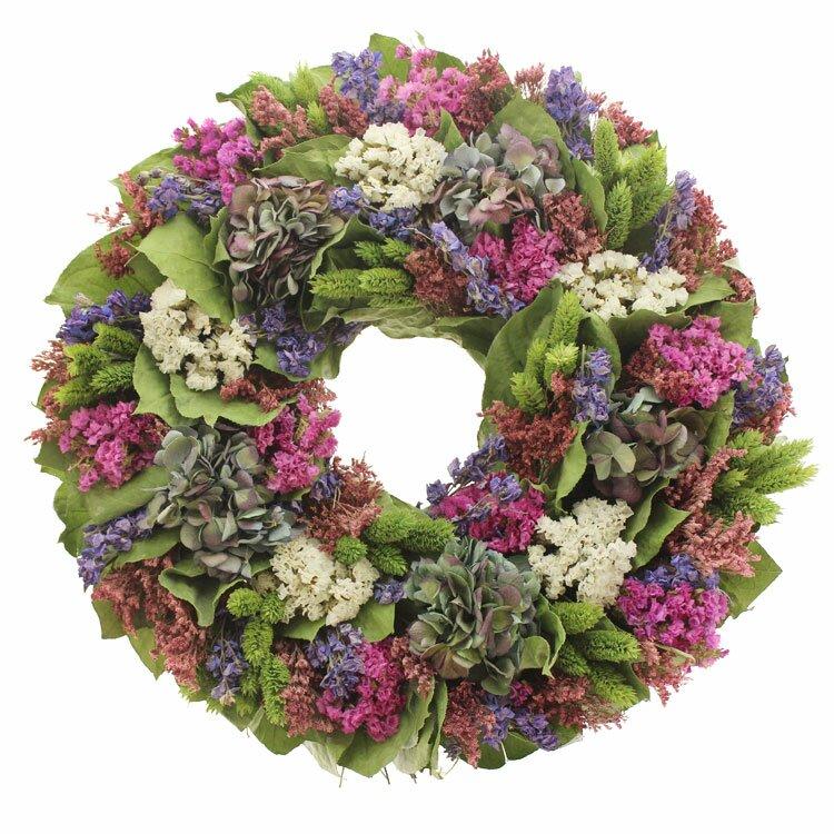 Floral Treasure Bliss Garden Wreath Reviews Wayfair