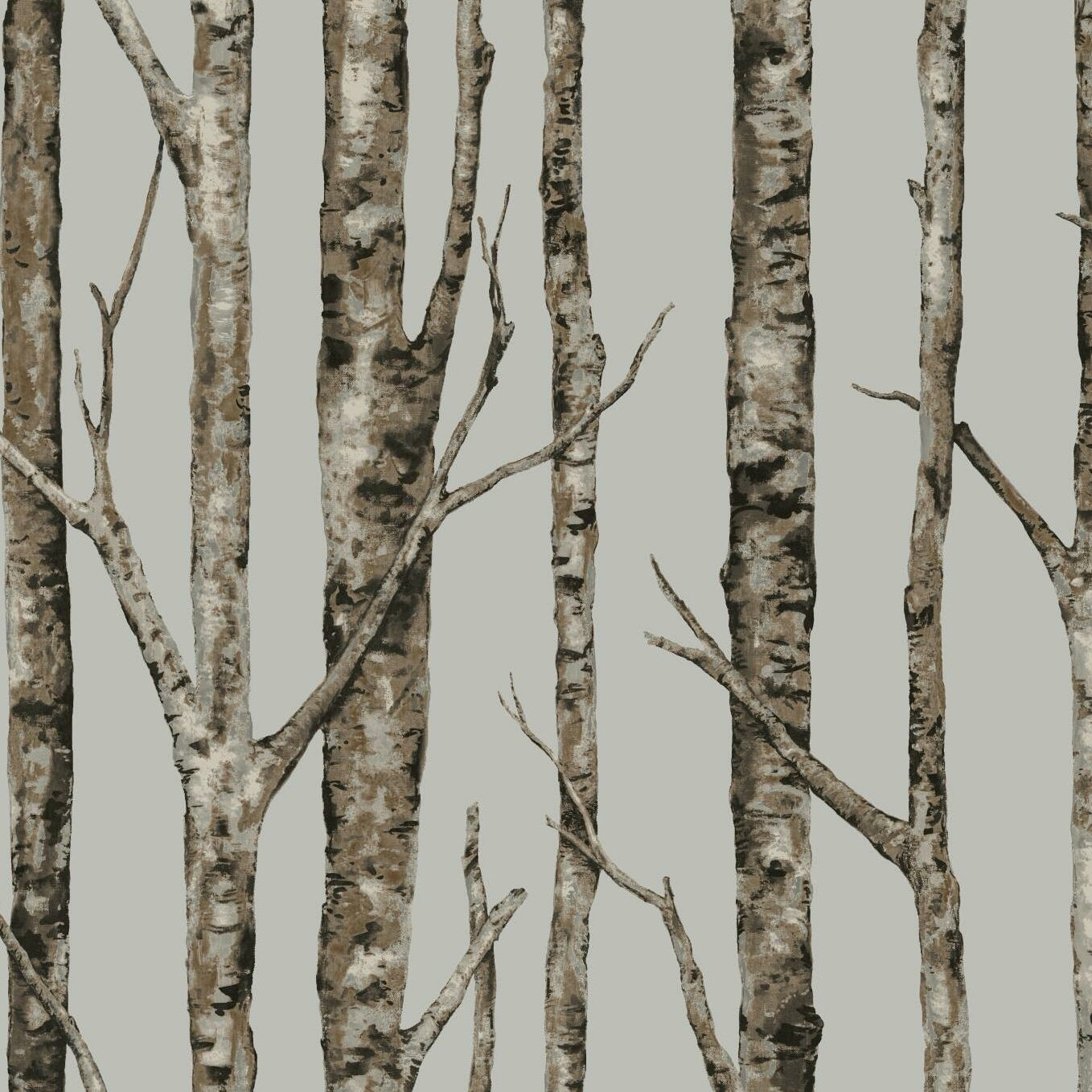 York Wallcoverings Urban Retreat 27 X 27 Quot The Birches