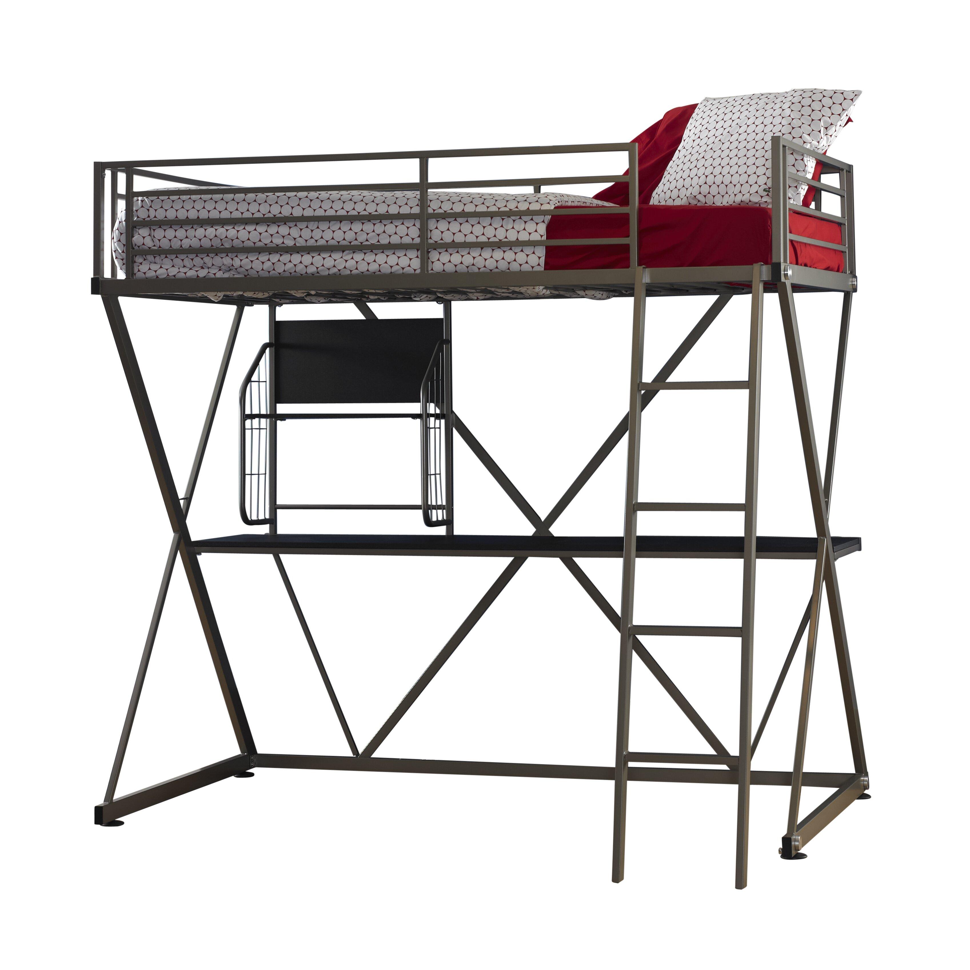 Powell z bedroom twin loft bed reviews wayfair for Powell z bedroom furniture