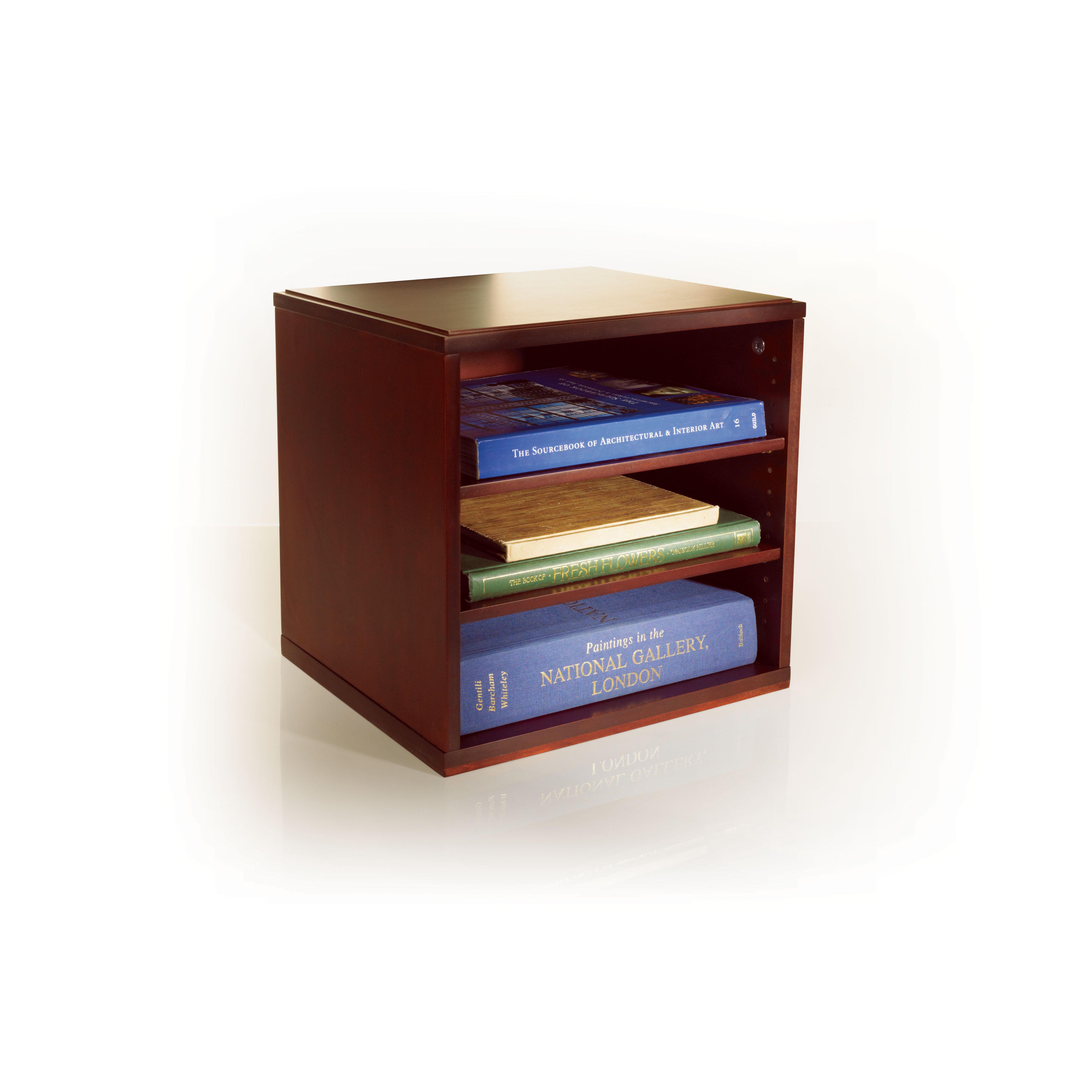 Bindertek Stacking Wood Desk Organizers Cube With Shelves
