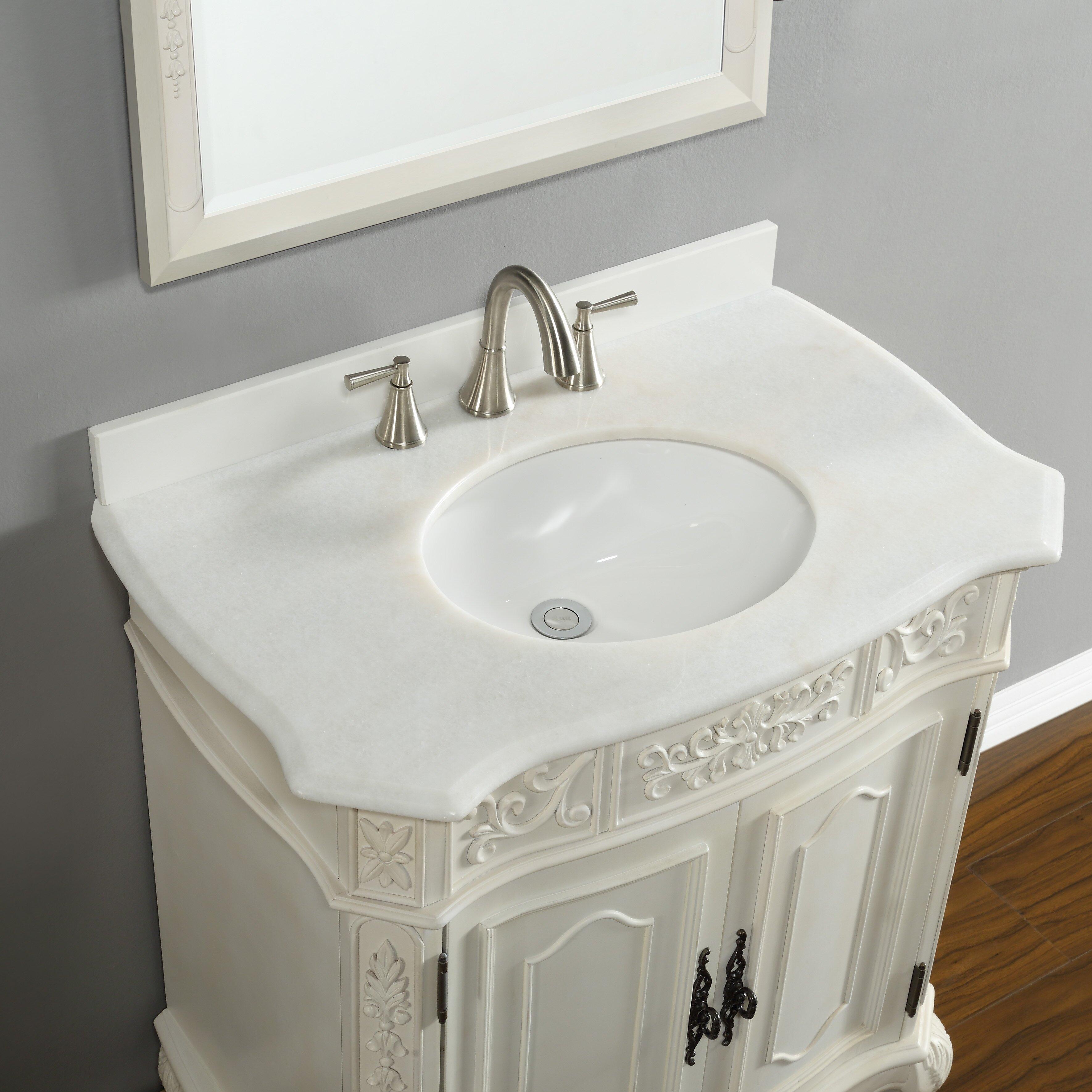 Mission hills rutherford 33 quot single vanity set amp reviews wayfair - Mission Hills Bathroom Vanity Mission Hills Rutherford 33 Quot Single Bathroom Vanity Set