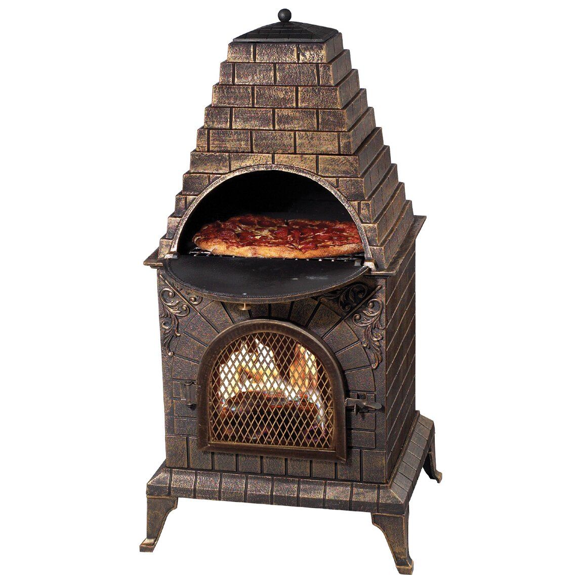 Deeco Aztec Allure Pizza Oven Outdoor Fireplace & Reviews ... on Outdoor Patio With Pizza Oven id=30507