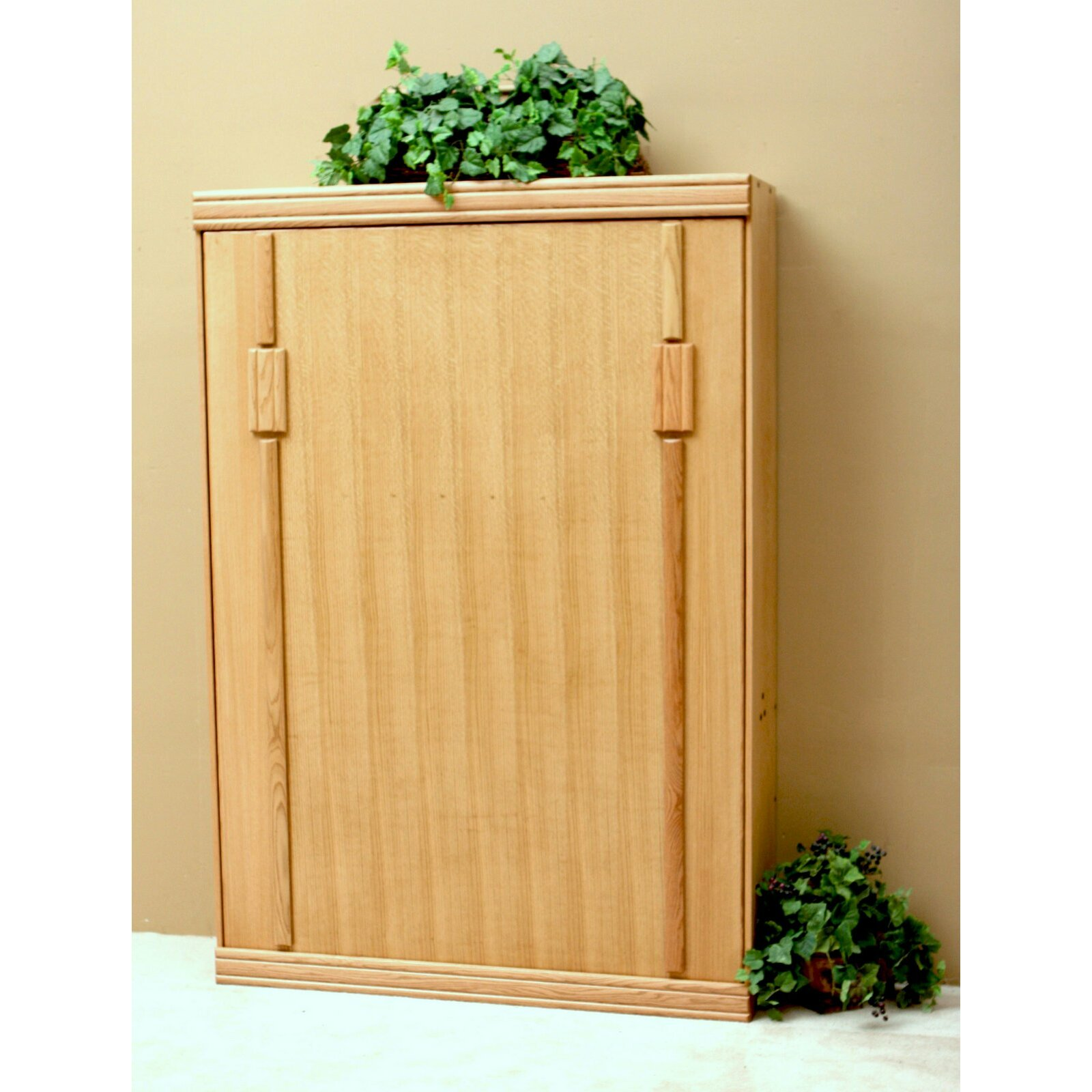 Wallbeds Contemporary Oak Storage Murphy Bed & Reviews | Wayfair