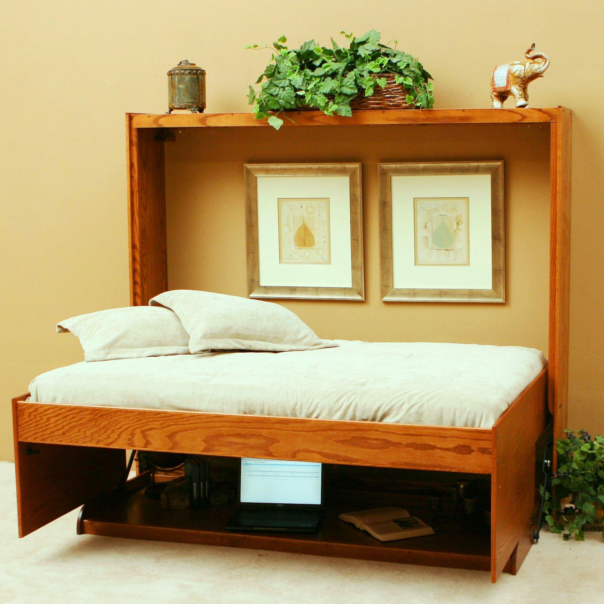Hidden Bedroom Door Double Bed Bedroom Wooden Accent Wall Bedroom Aesthetically Pleasing Bedroom: Wallbeds Full/Double Murphy Bed & Reviews