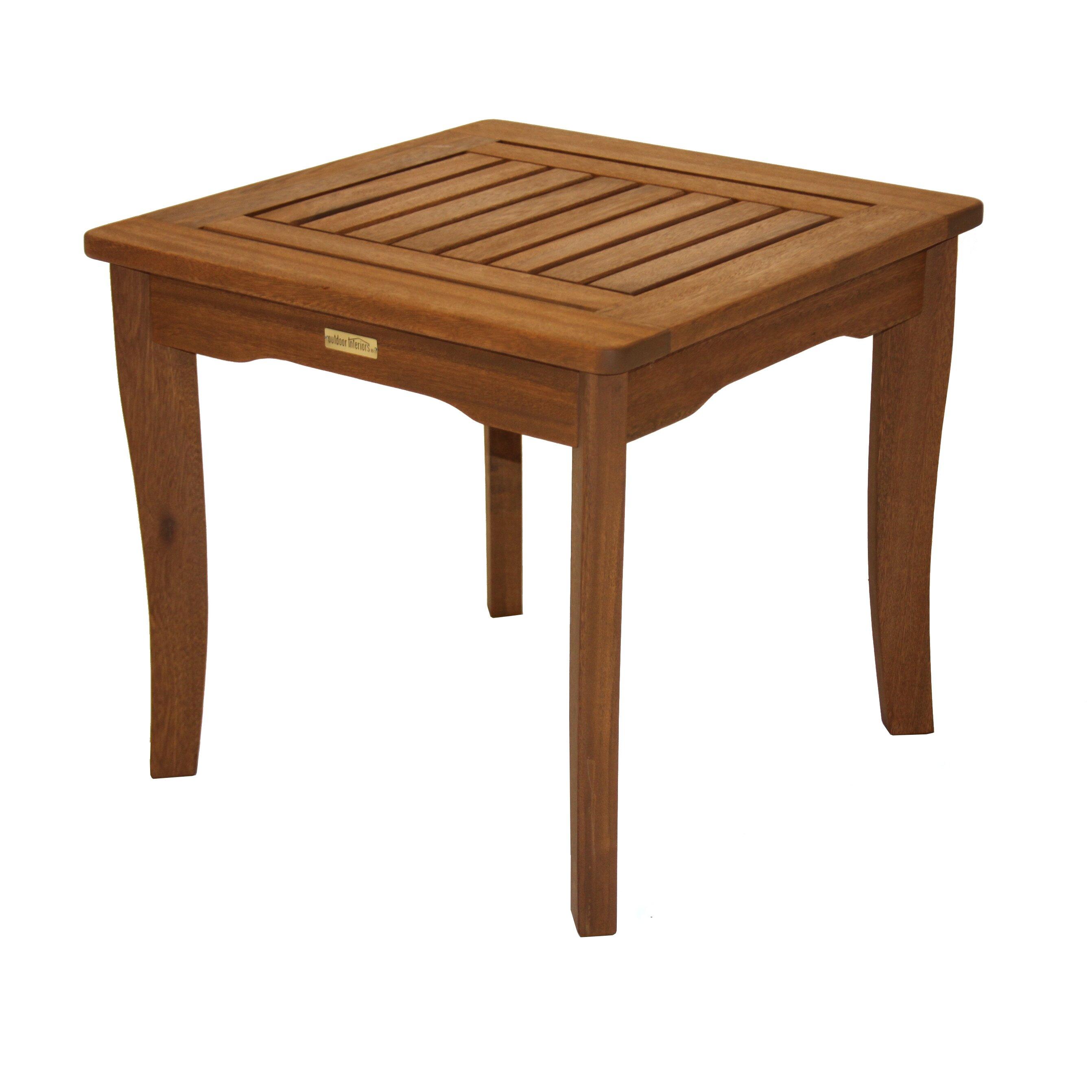 Outdoor Interiors Eucalyptus End Table Amp Reviews Wayfair