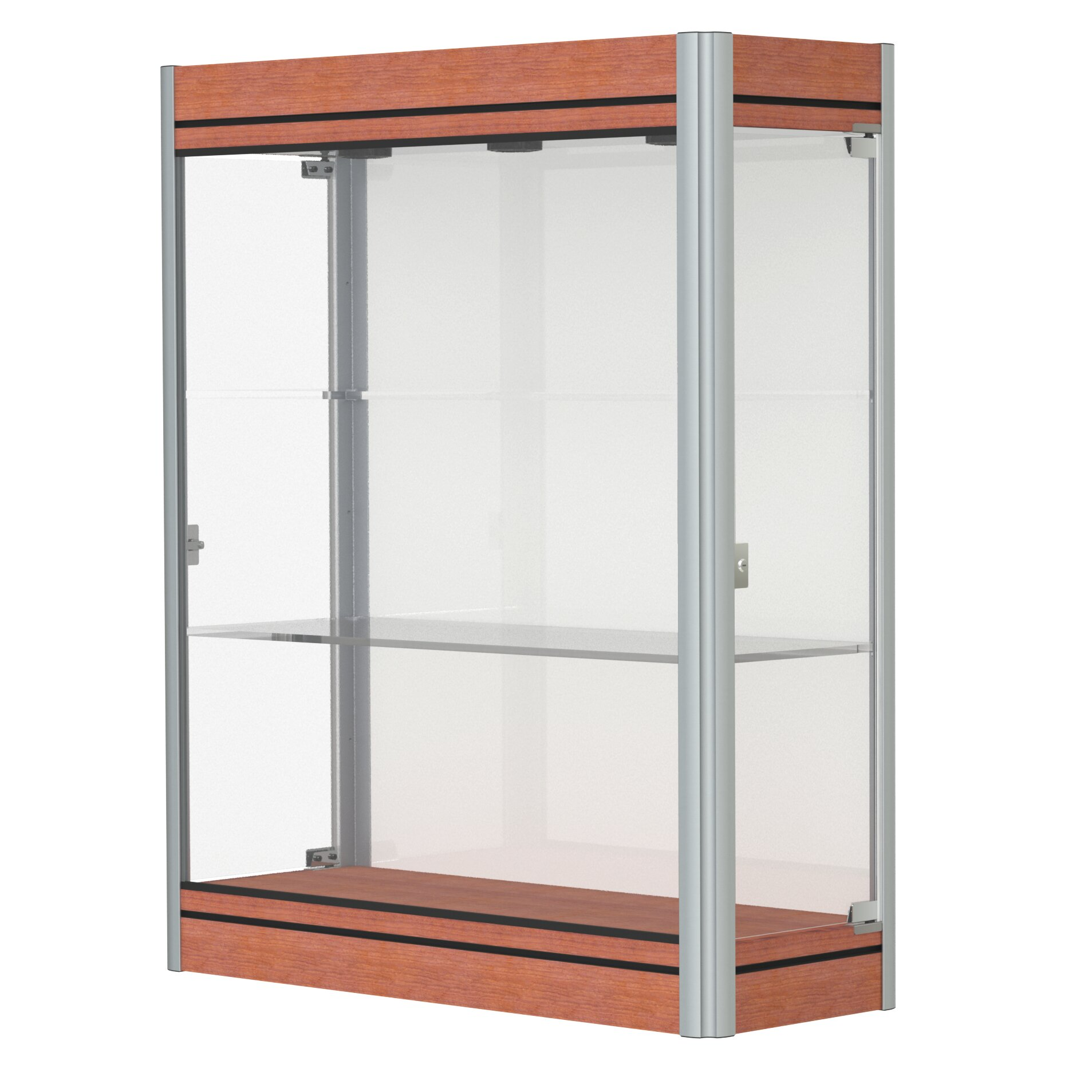 waddell contempo series lighted wall display case. Black Bedroom Furniture Sets. Home Design Ideas