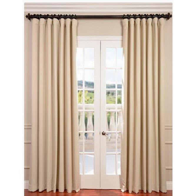 Curtains Ideas blackout curtain reviews : Half Price Drapes Doublewide Plush Blackout Thermal Single Curtain ...