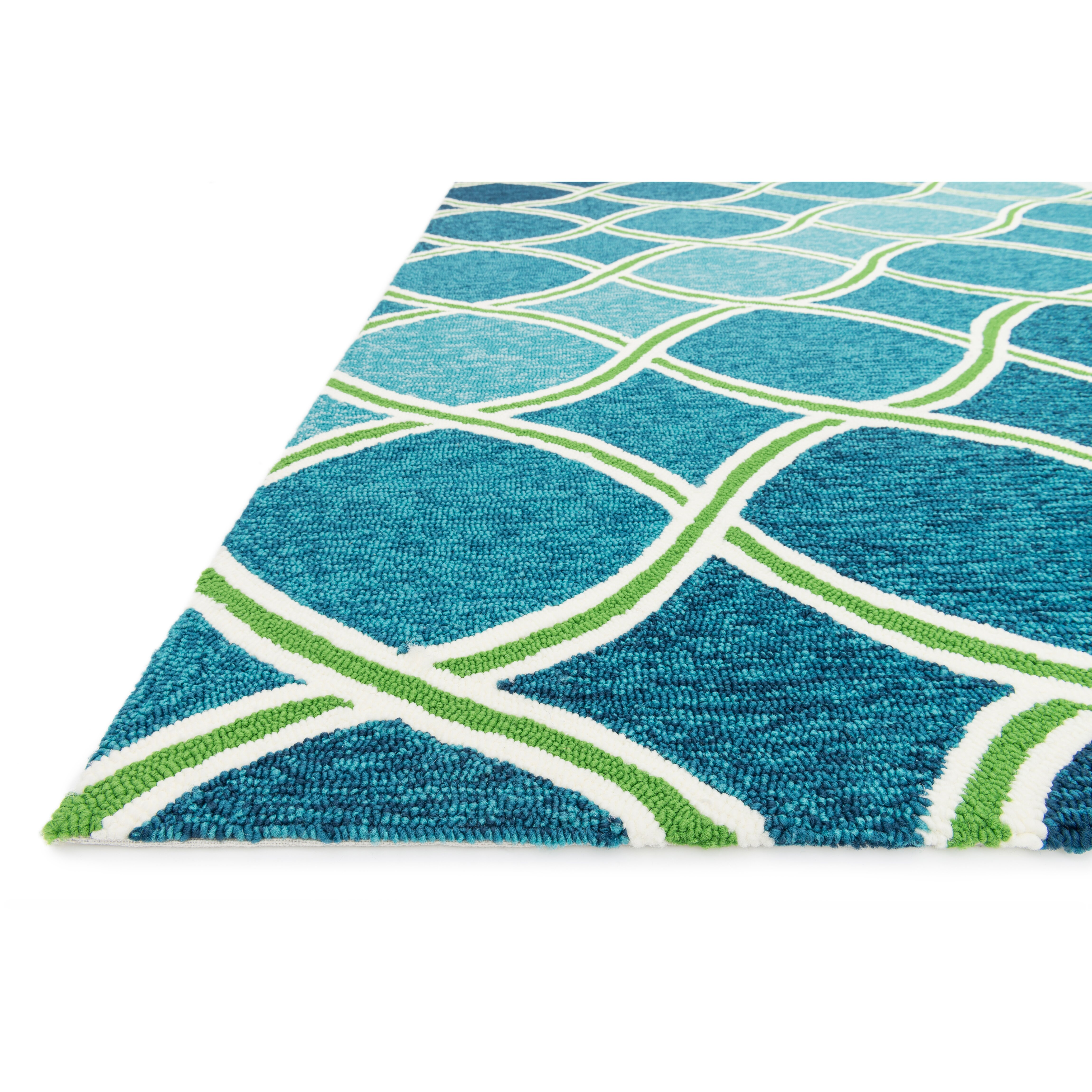 Loloi Rugs Venice Beach Blue/Green Indoor/Outdoor Area Rug